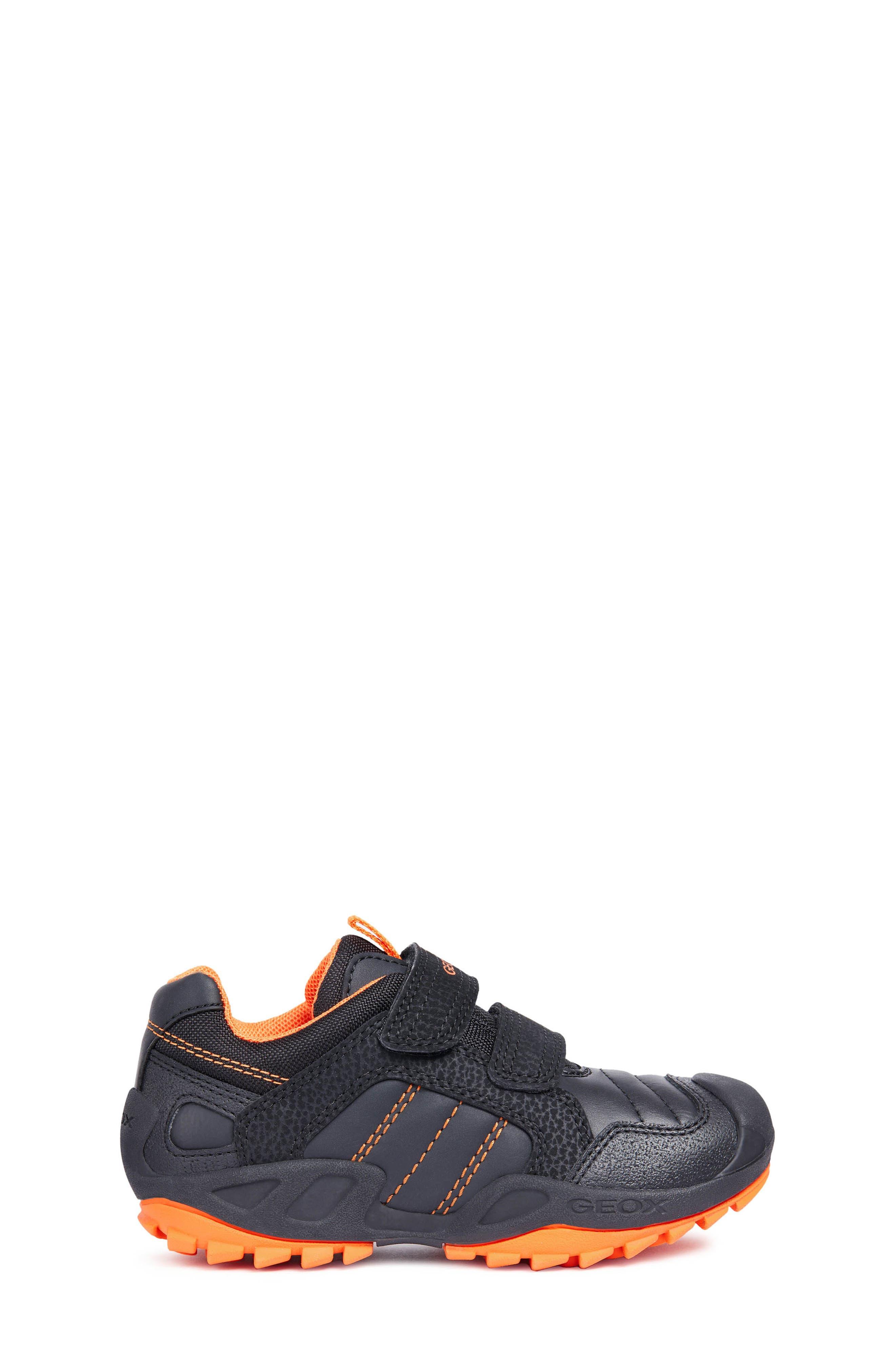 New Savage Sneaker,                             Alternate thumbnail 3, color,                             BLACK/ORANGE