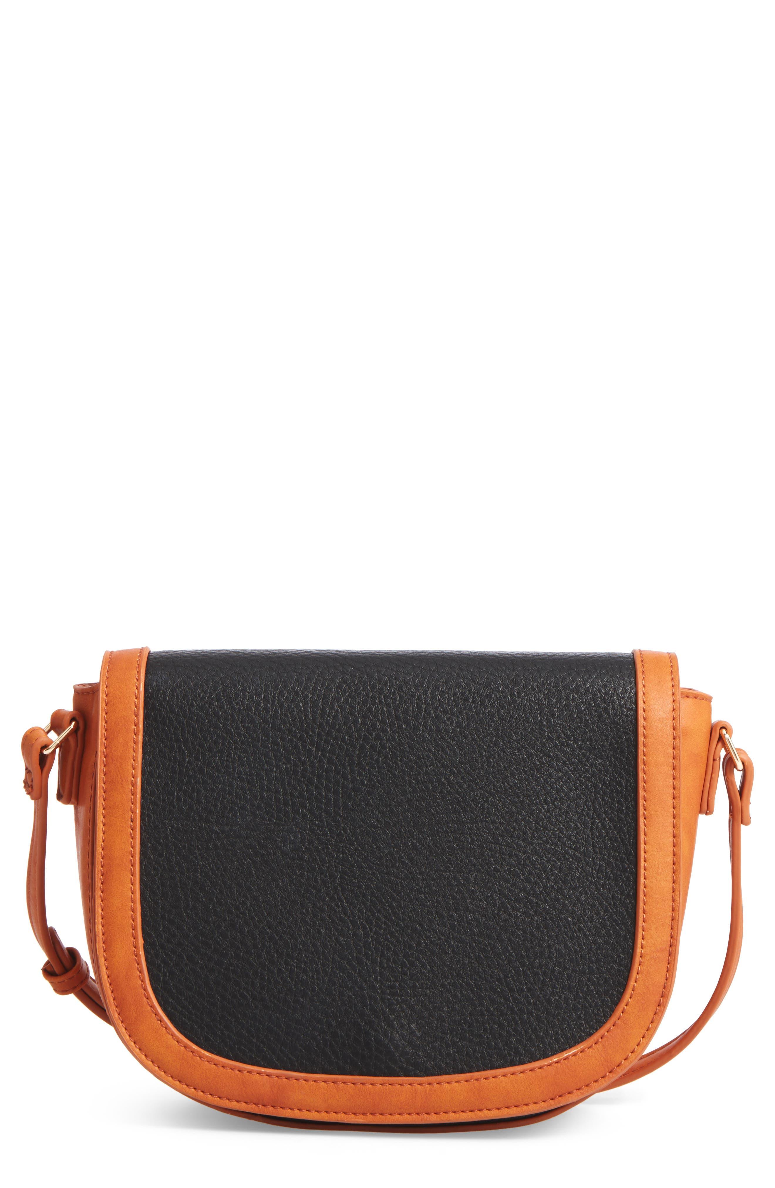 Finnigan Faux Leather Crossbody Bag,                             Main thumbnail 1, color,                             001