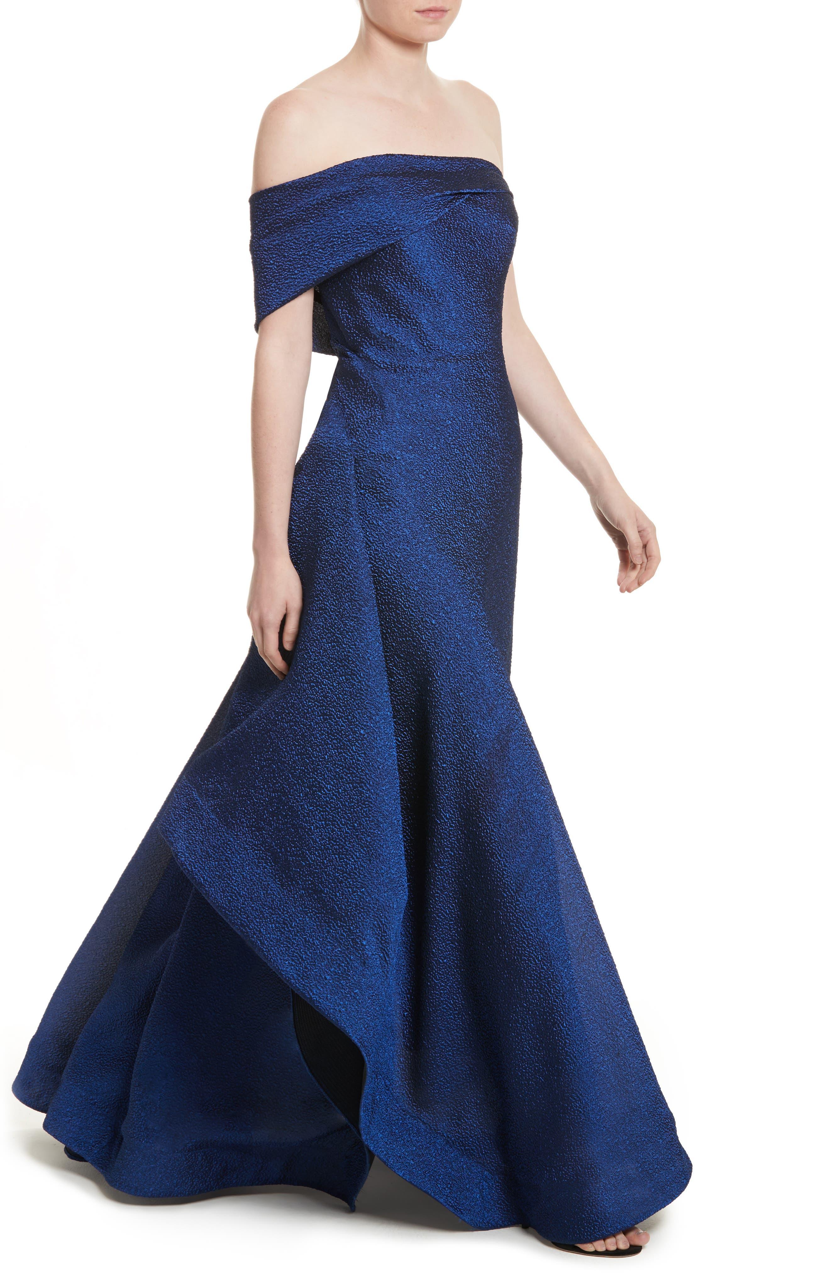 Side Drape Strapless Gown,                             Alternate thumbnail 4, color,