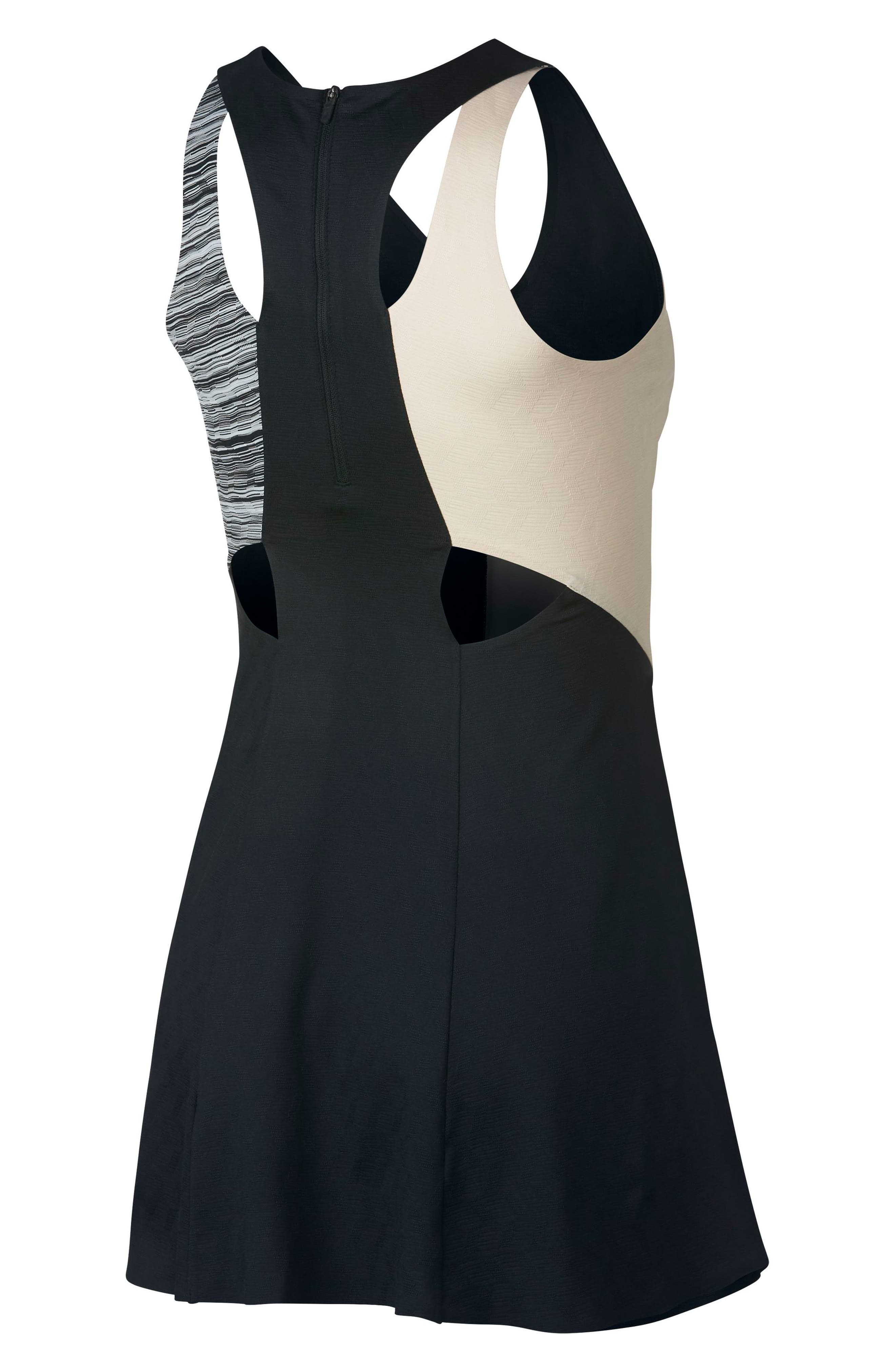 Maria Dry Tennis Dress,                             Alternate thumbnail 2, color,                             BLACK/ WOLF GREY/ GUAVA ICE