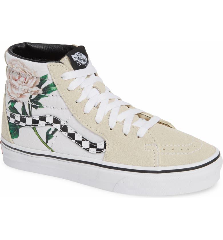 44557e9e873 Vans Sk8-Hi Checker Floral High Top Sneaker (Women)