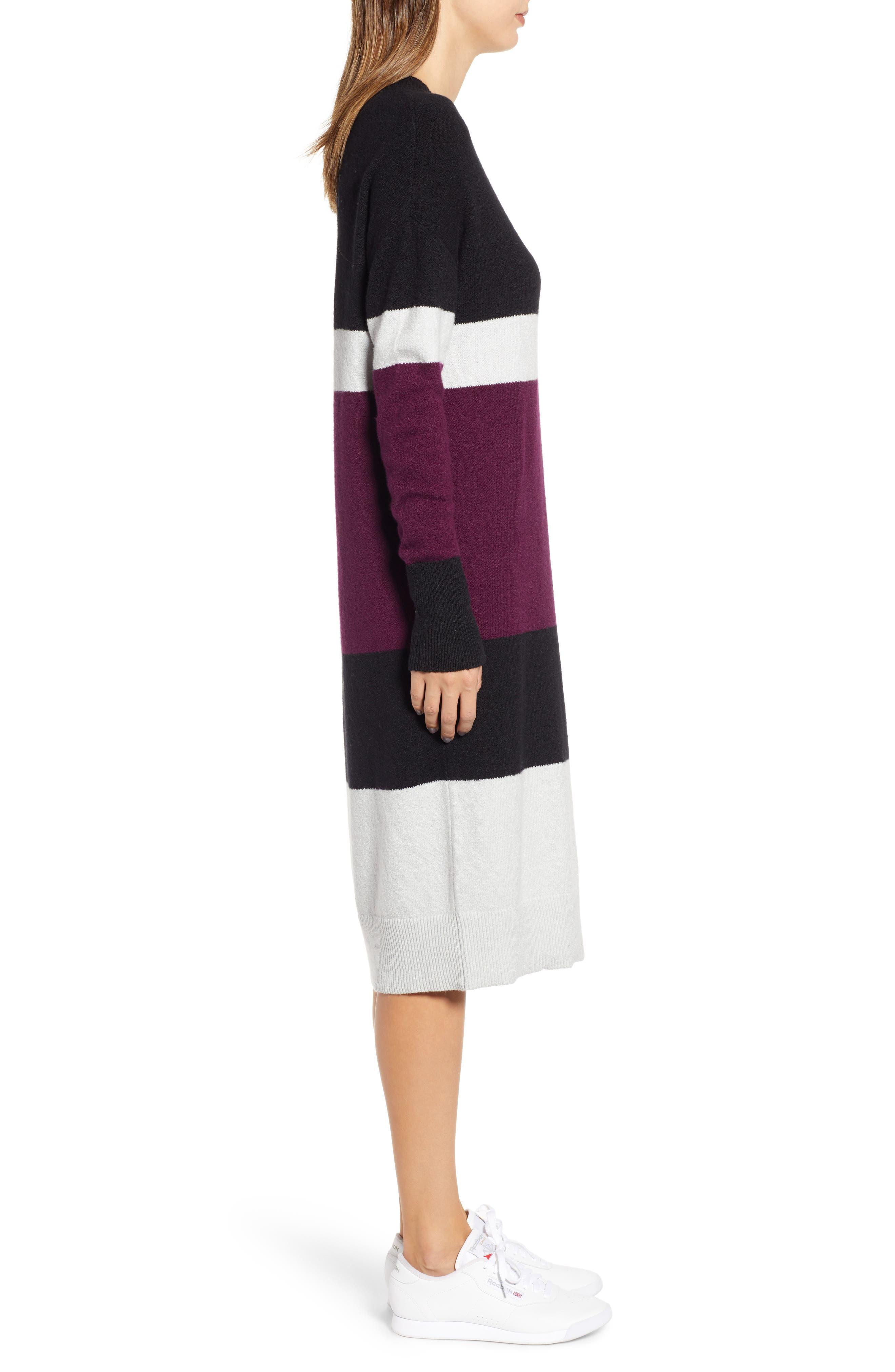 Stripe Sweater Dress,                             Alternate thumbnail 3, color,                             510
