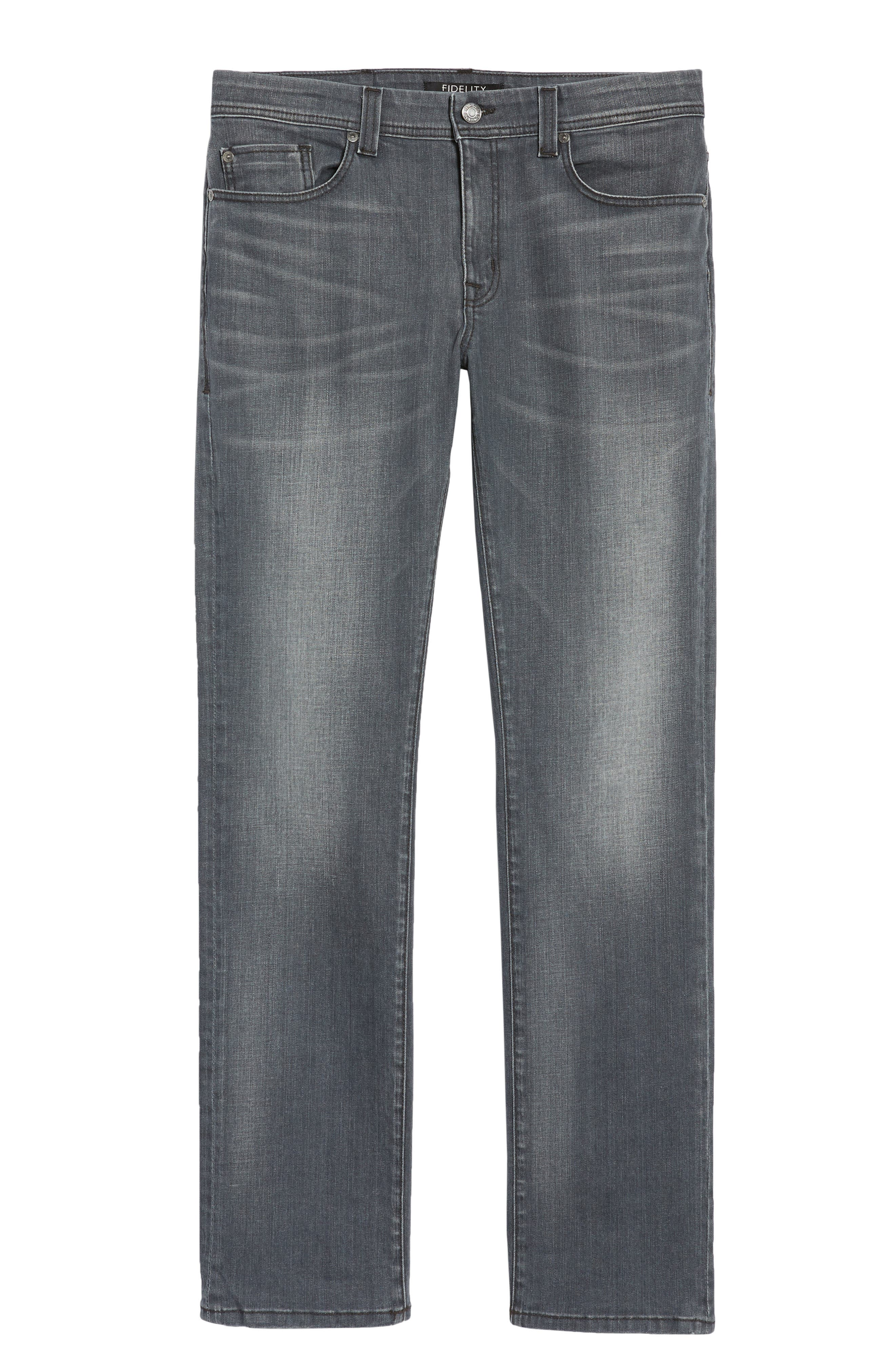 Jimmy Slim Straight Fit Jeans,                             Alternate thumbnail 6, color,                             020