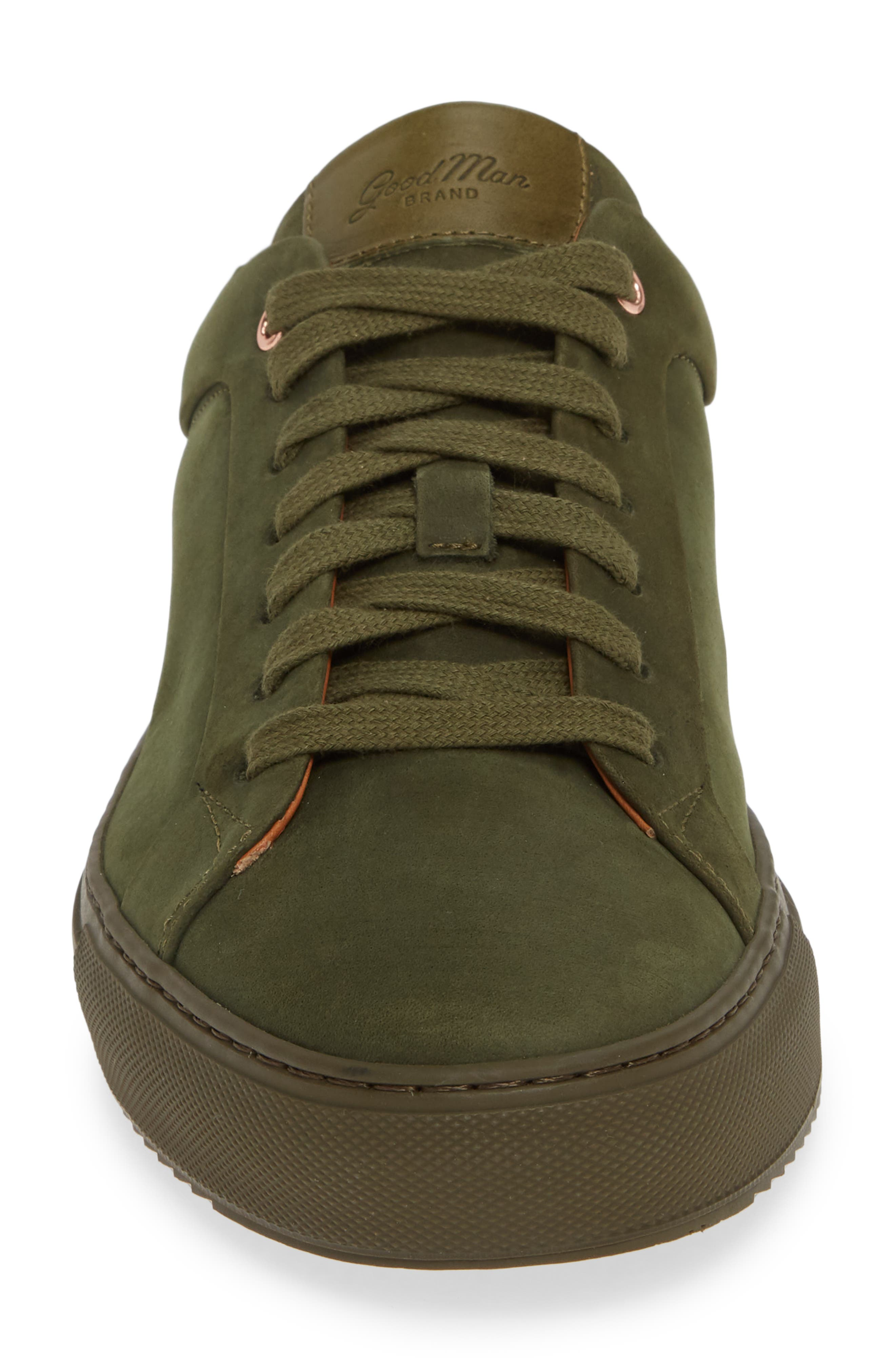 Sure Shot Lo Sneaker,                             Alternate thumbnail 4, color,                             MILITARY GREEN LEATHER