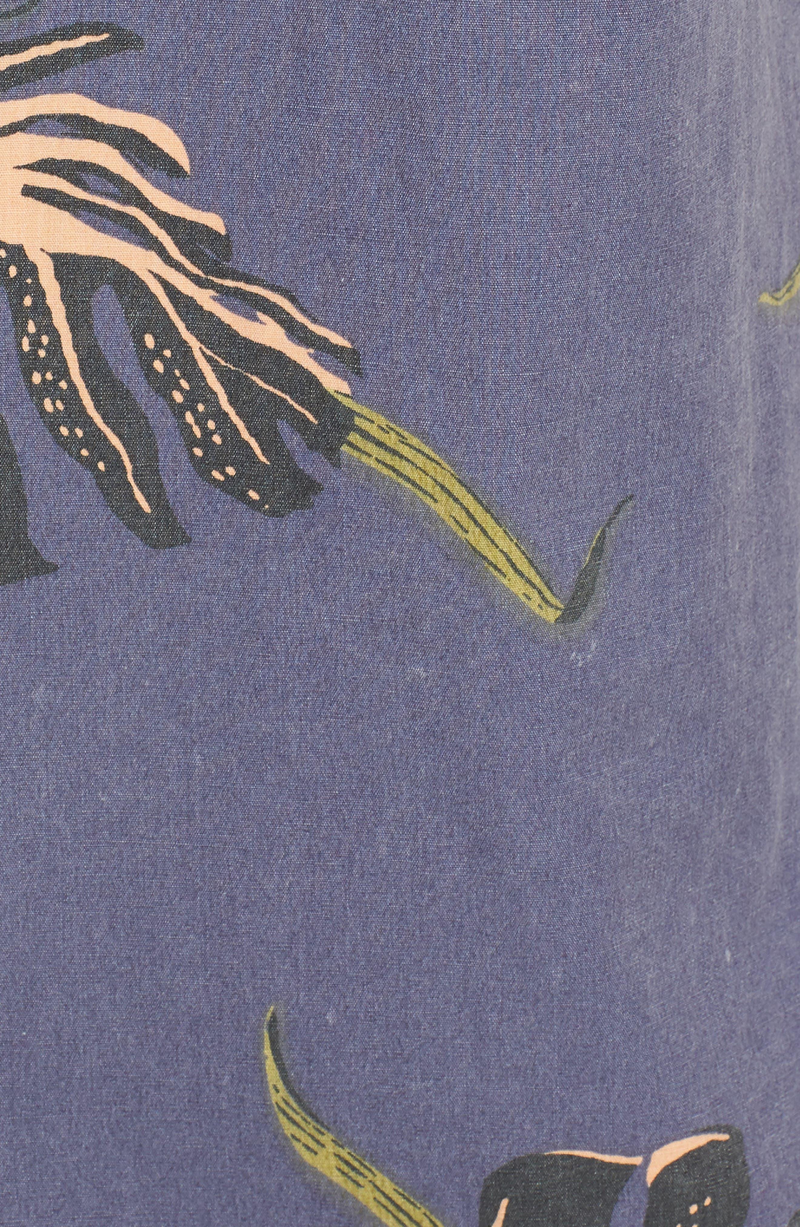 Pointer Woven Shirt,                             Alternate thumbnail 5, color,                             MOONLIGHT BLUE