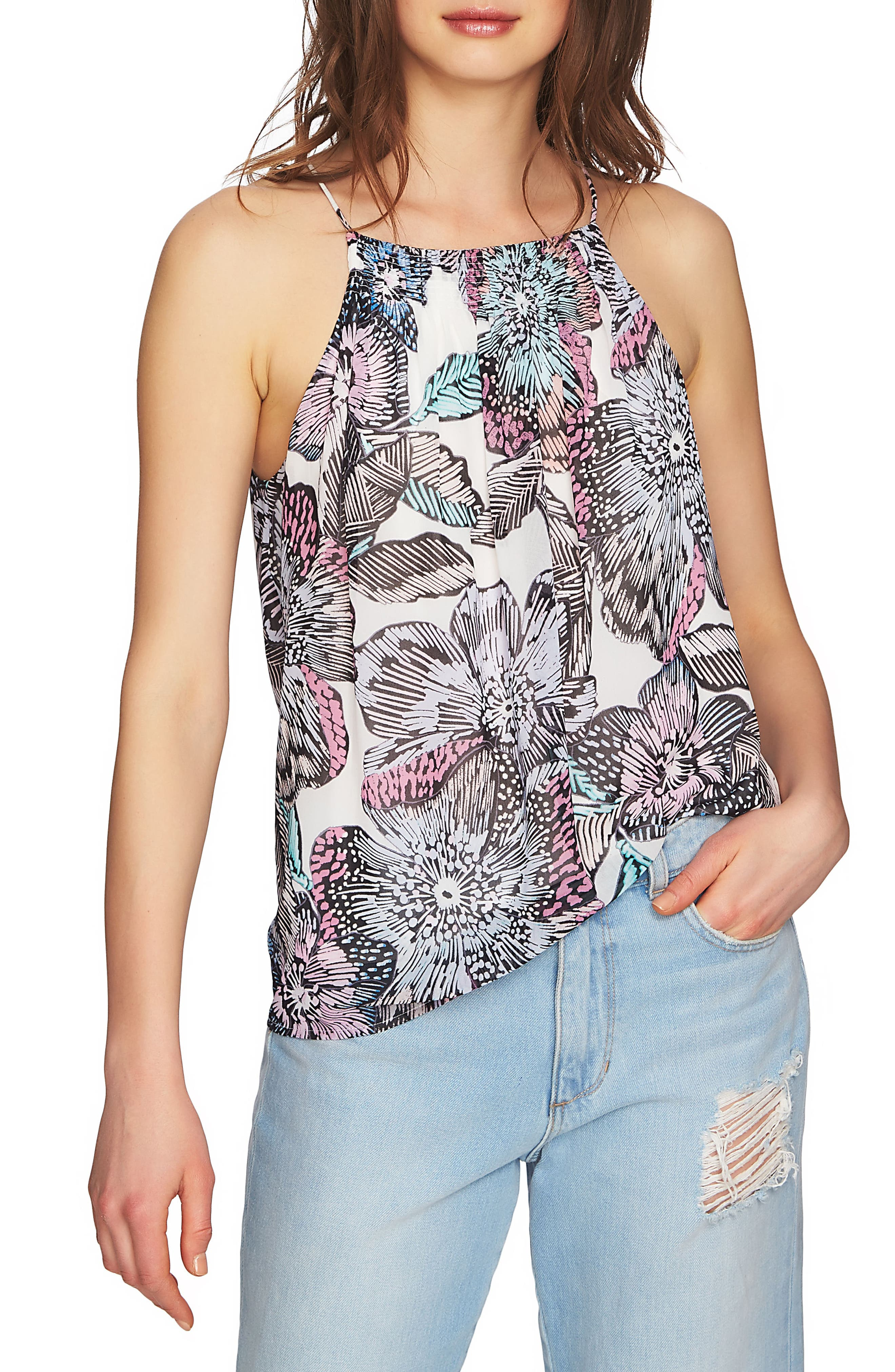 Print Halter Style Tank,                         Main,                         color, 908