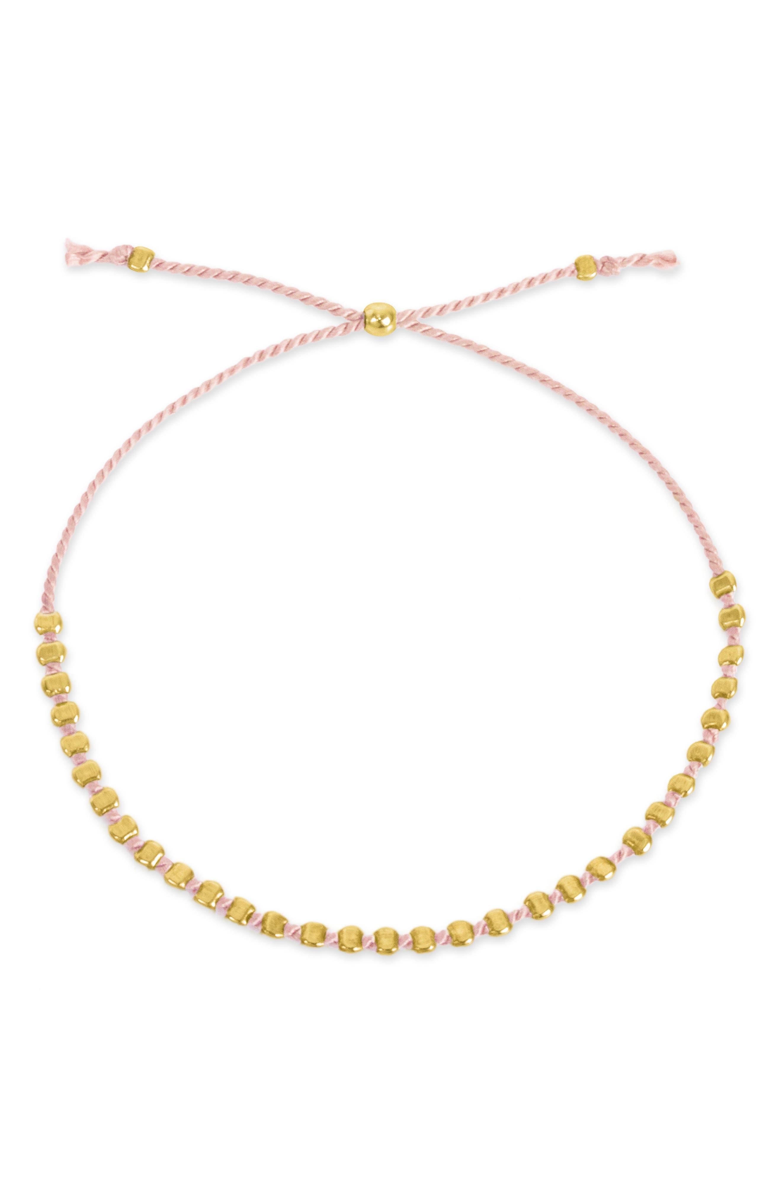 Flat Bead Pin Friendship Bracelet,                             Alternate thumbnail 2, color,                             710