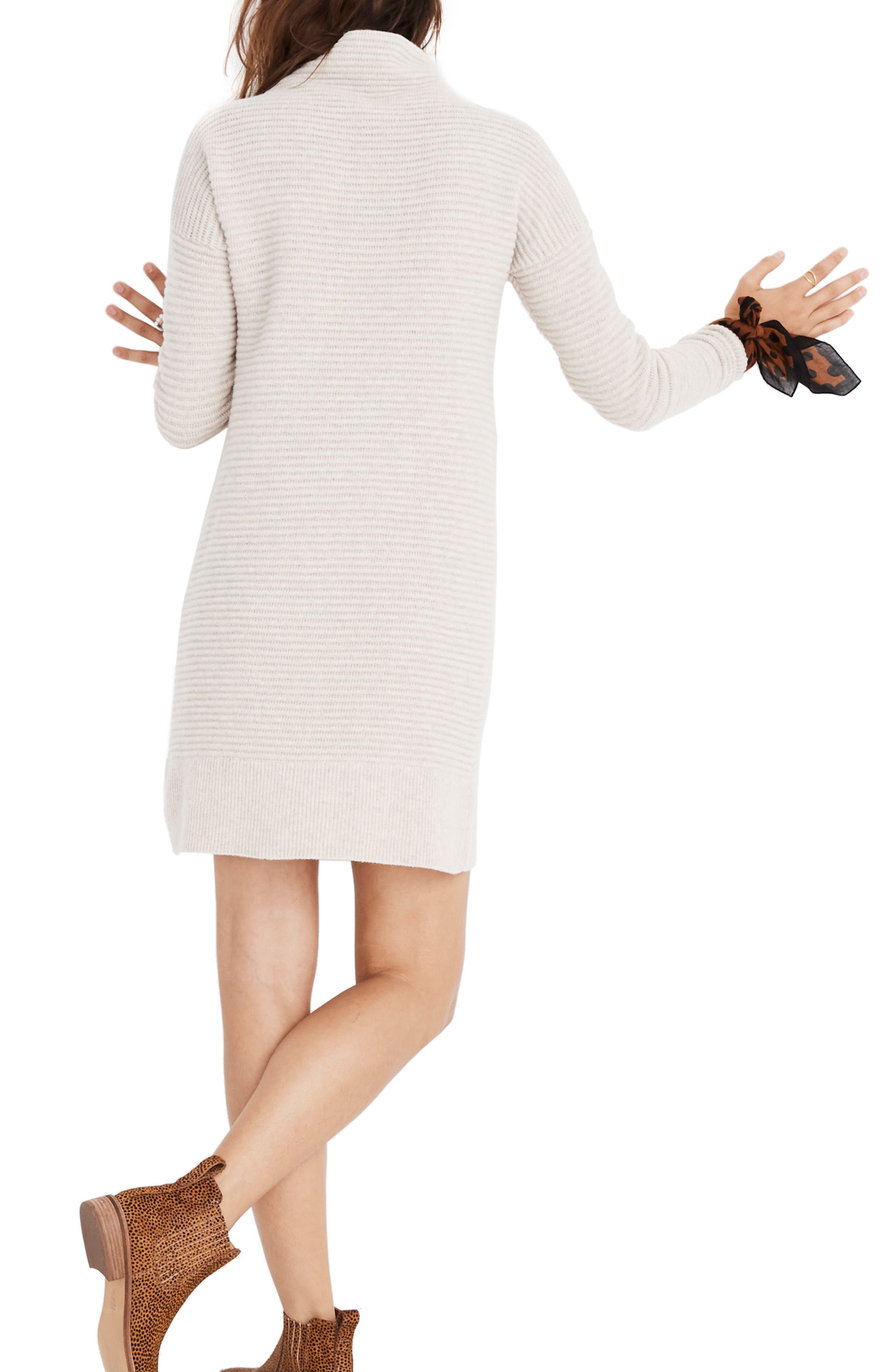 Skyscraper Merino Wool Sweater Dress,                             Alternate thumbnail 2, color,                             HEATHER ALMOND