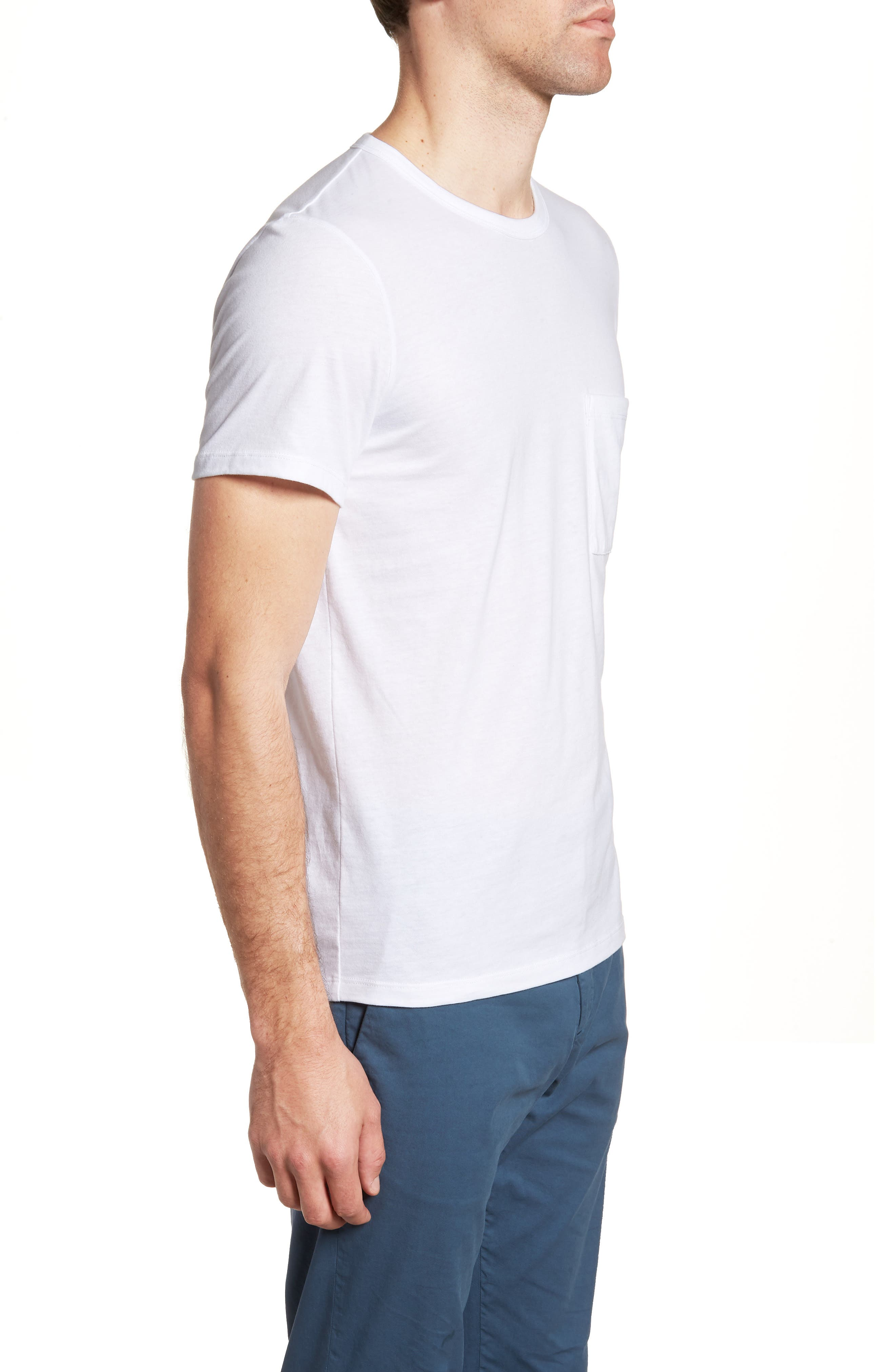Essential Regular Fit T-Shirt,                             Alternate thumbnail 3, color,                             WHITE