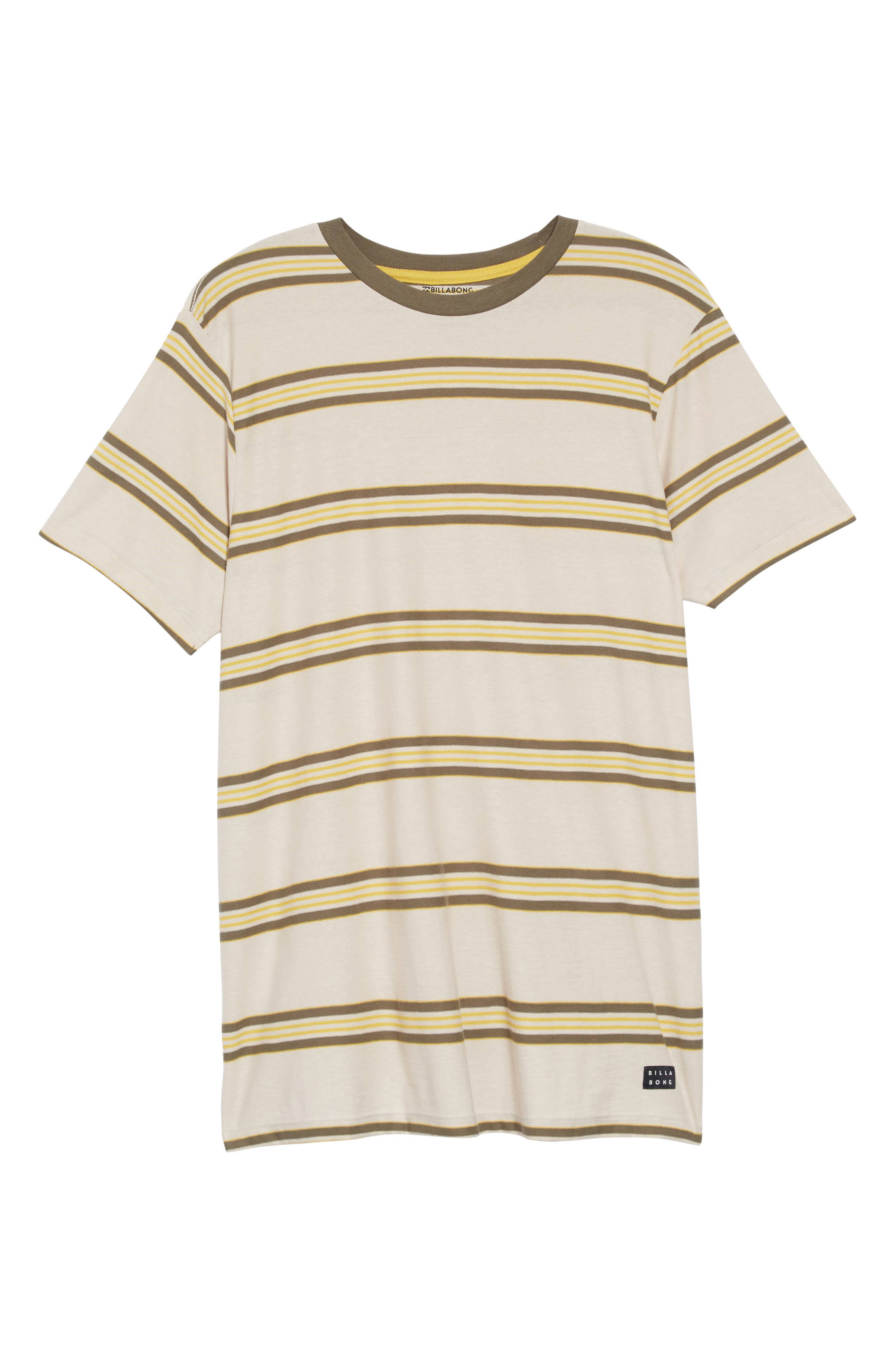 Die Cut Stripe T-Shirt,                             Alternate thumbnail 6, color,                             STONE