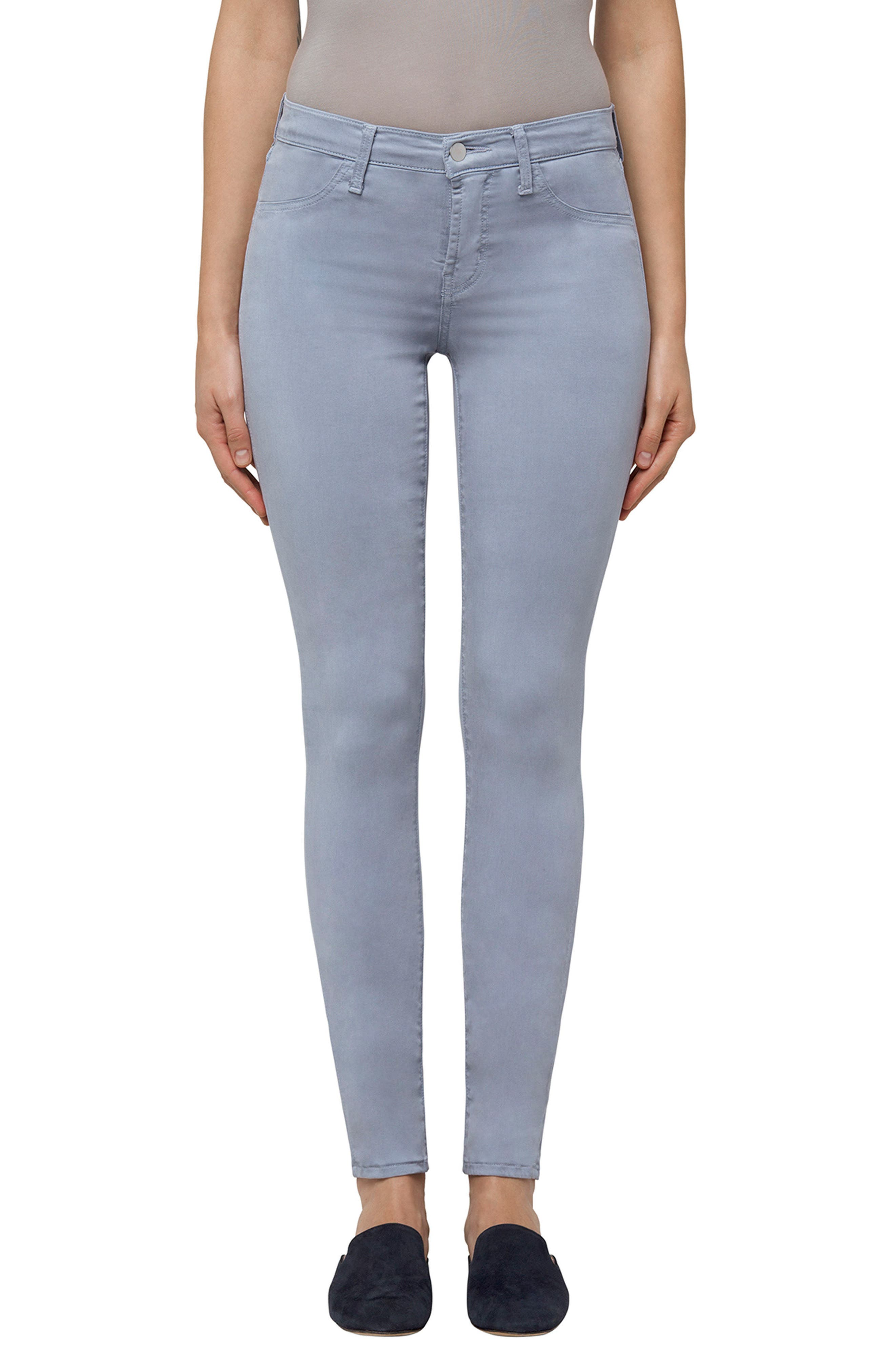 High Waist Ankle Super Skinny Jeans,                             Main thumbnail 4, color,