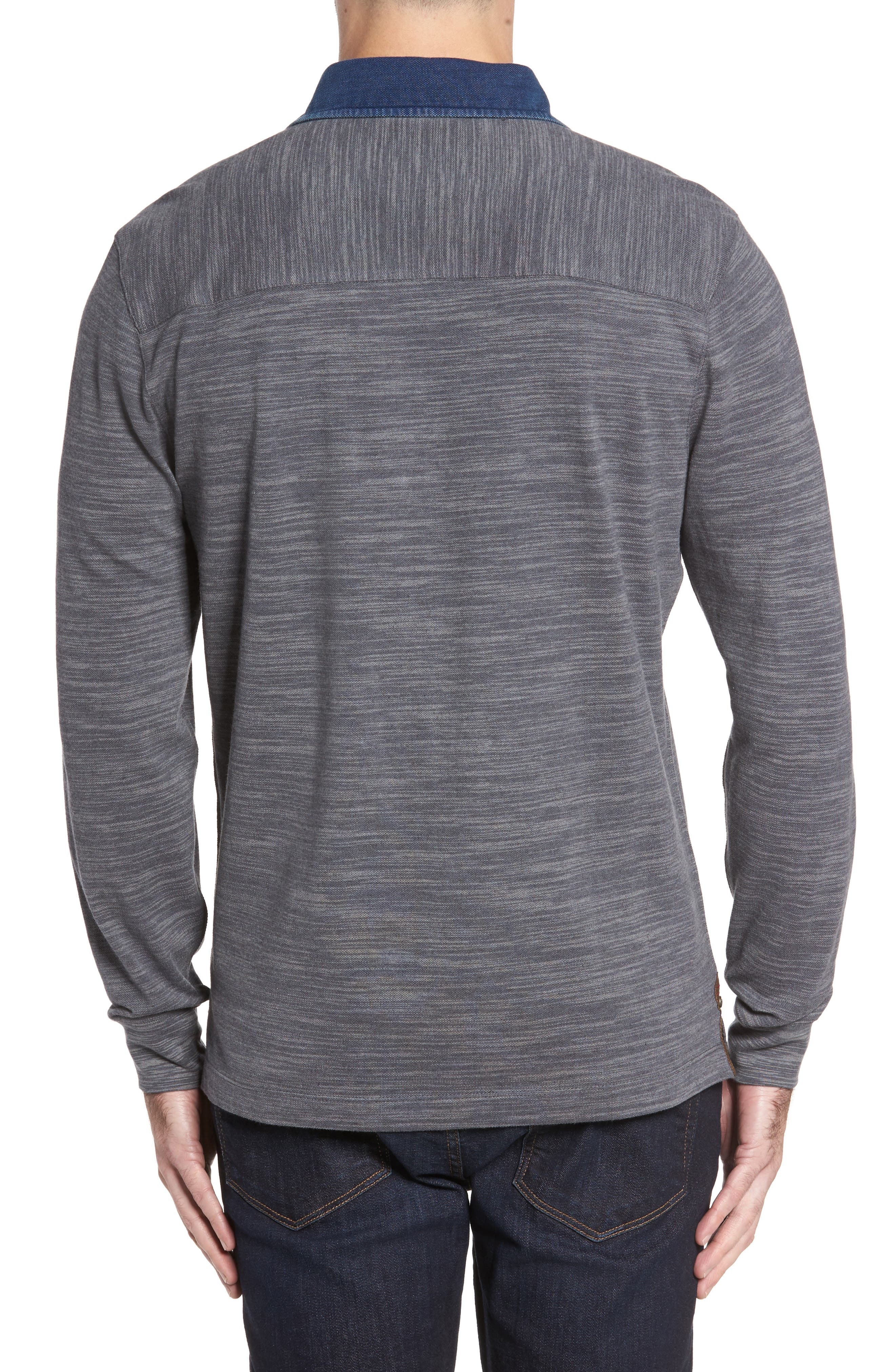 Patton Space Dyed Long Sleeve Polo,                             Alternate thumbnail 4, color,