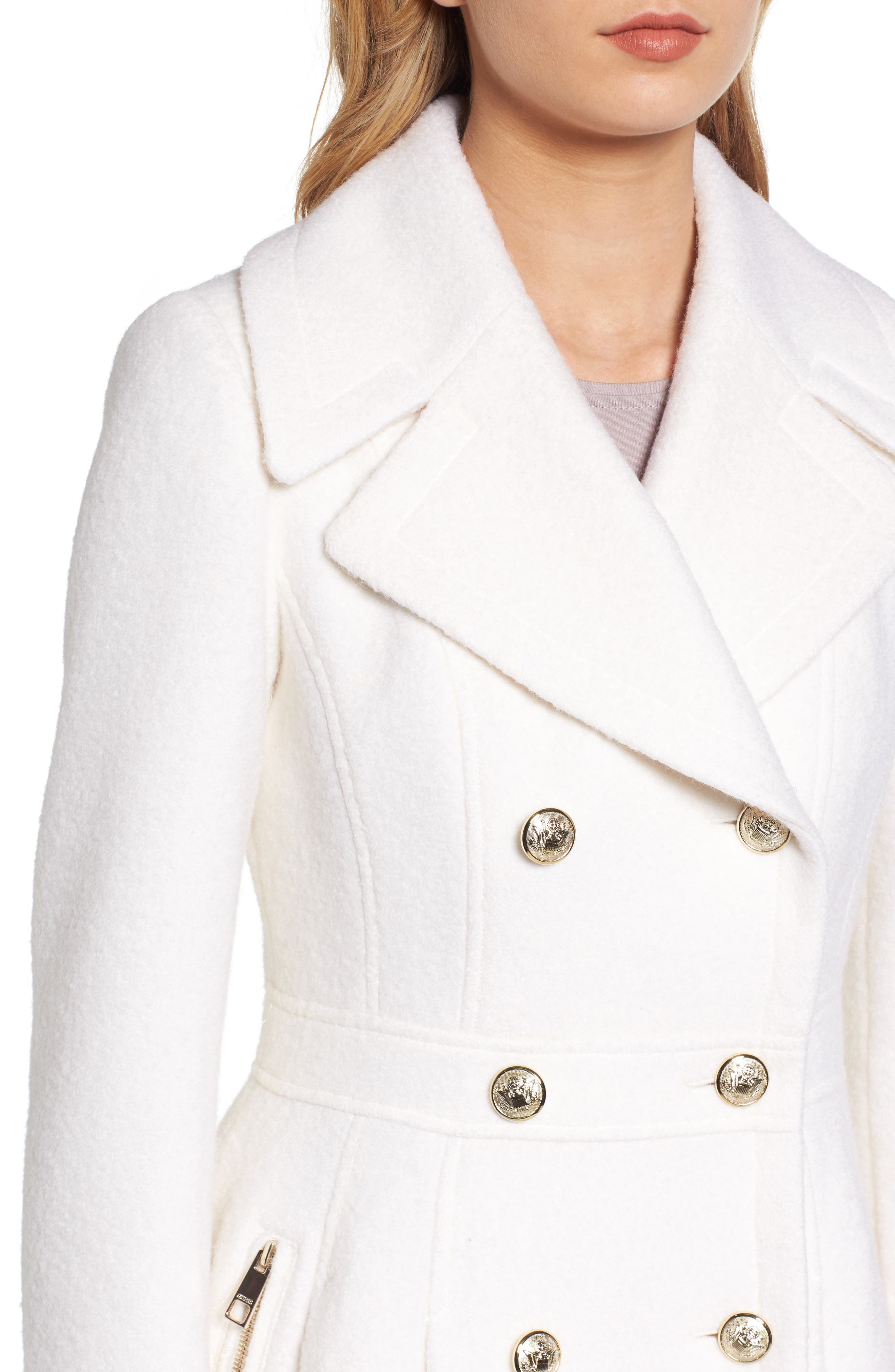 Double Breasted Wool Blend Coat,                             Alternate thumbnail 11, color,
