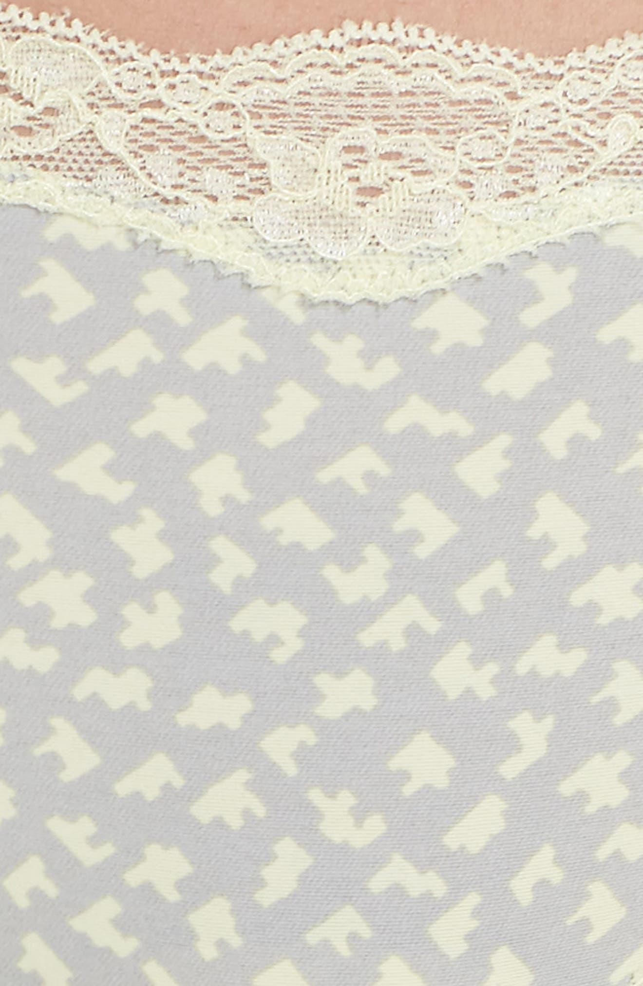 Lace Trim Thong,                             Alternate thumbnail 74, color,