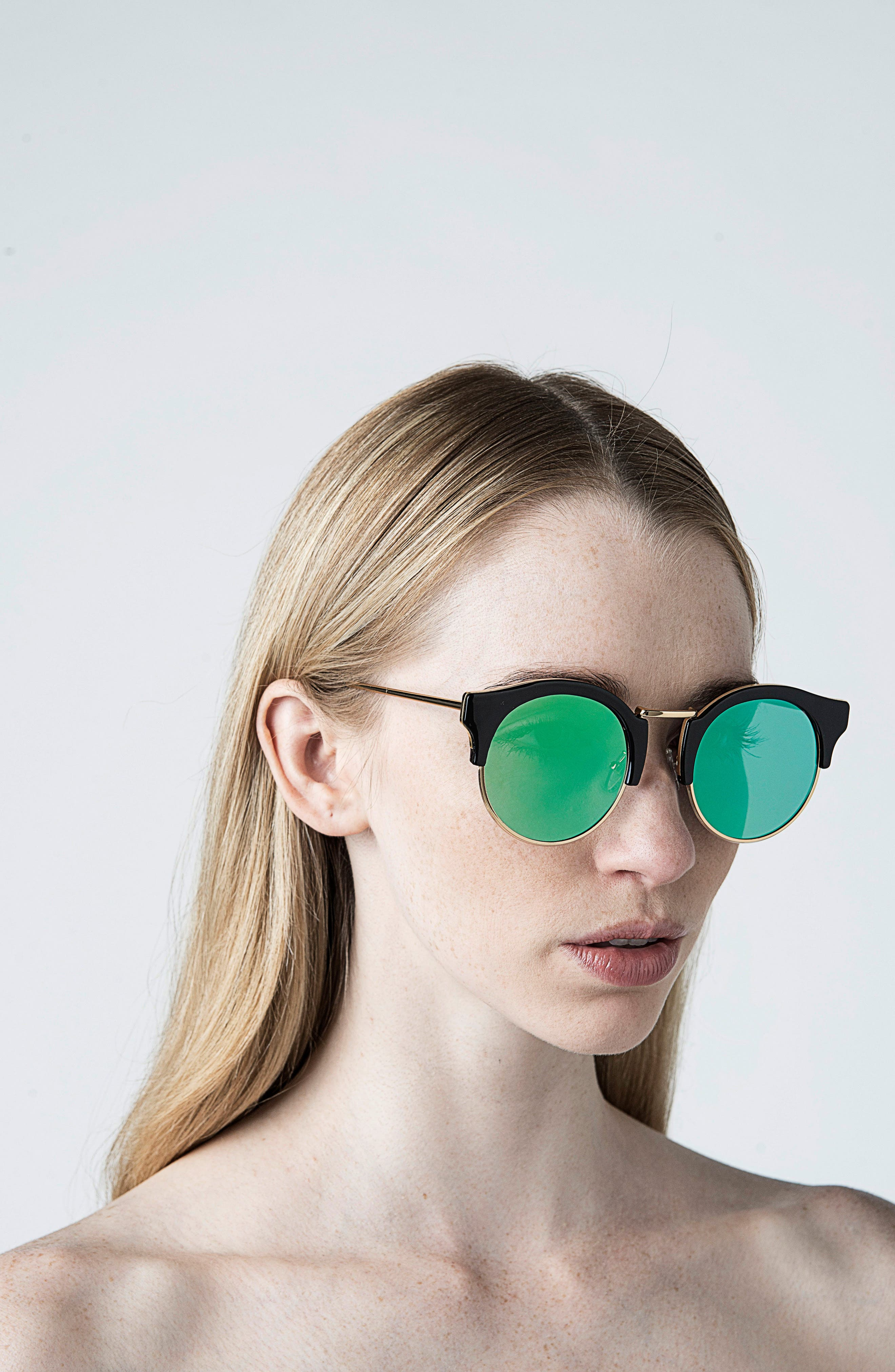 Broadway 51mm Retro Sunglasses,                             Alternate thumbnail 7, color,