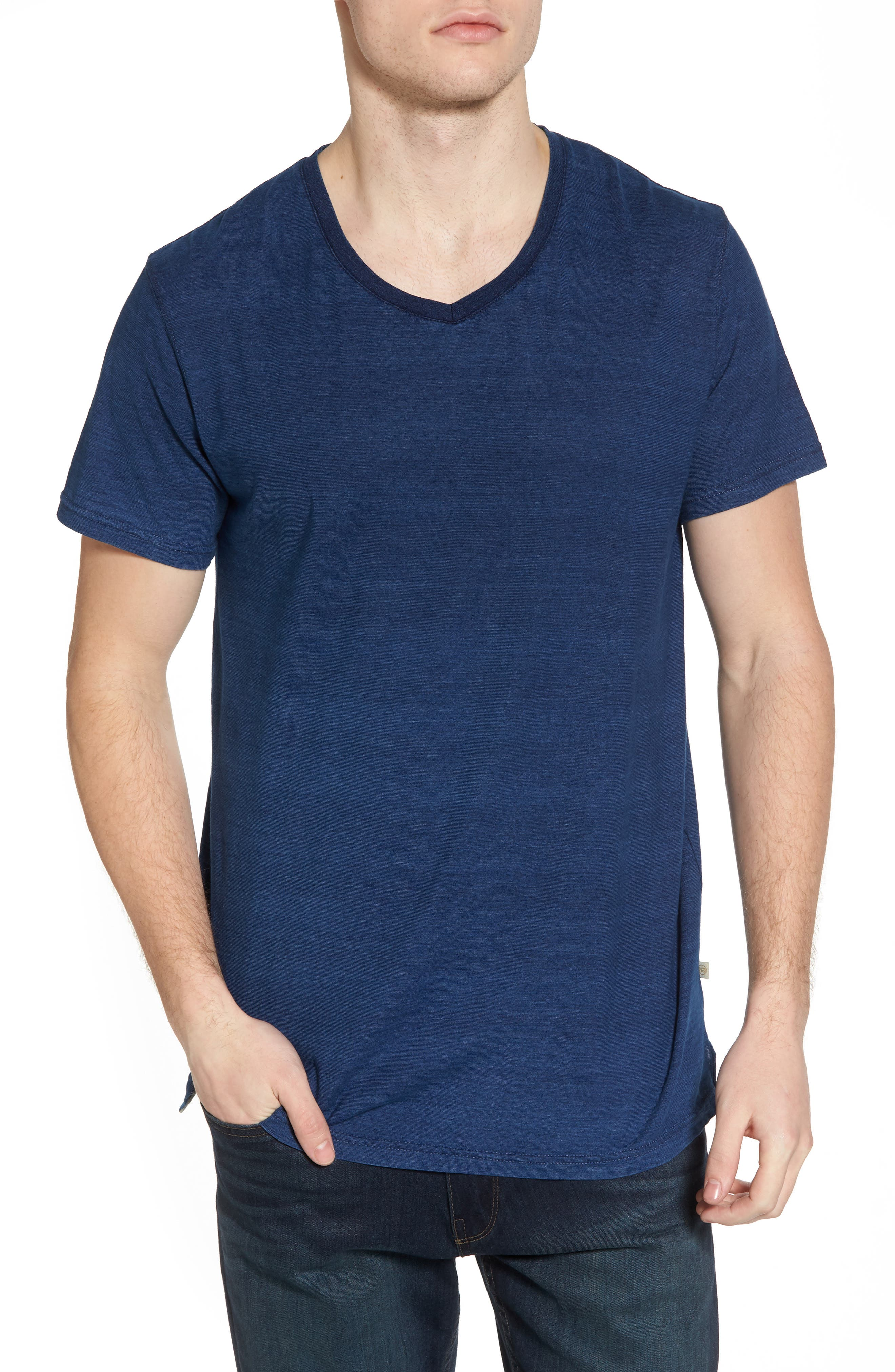 Marlon Slim Fit V-Neck Tee,                             Main thumbnail 1, color,                             401