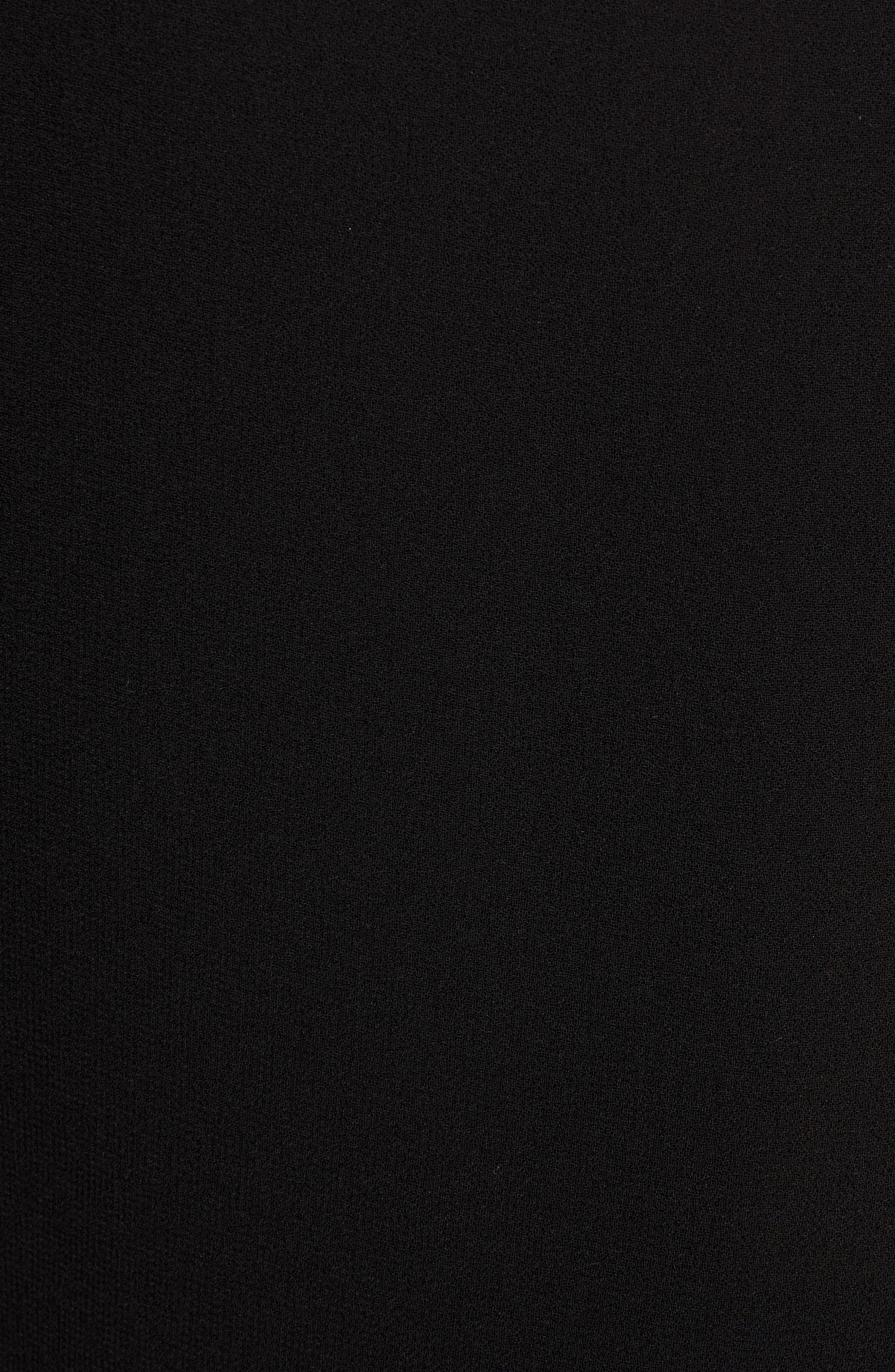 ANNE KLEIN,                             Double Layer Top,                             Alternate thumbnail 5, color,                             ANNE BLACK
