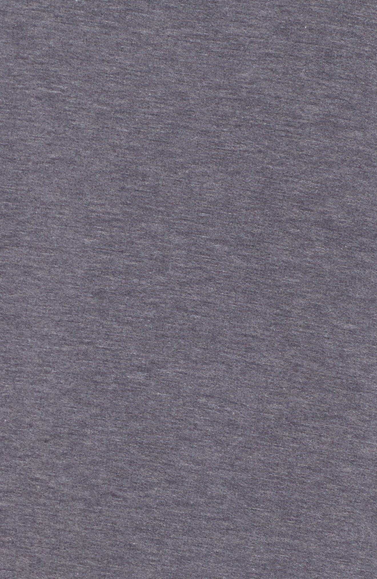 Lace Hem Sweatshirt Dress,                             Alternate thumbnail 5, color,                             002