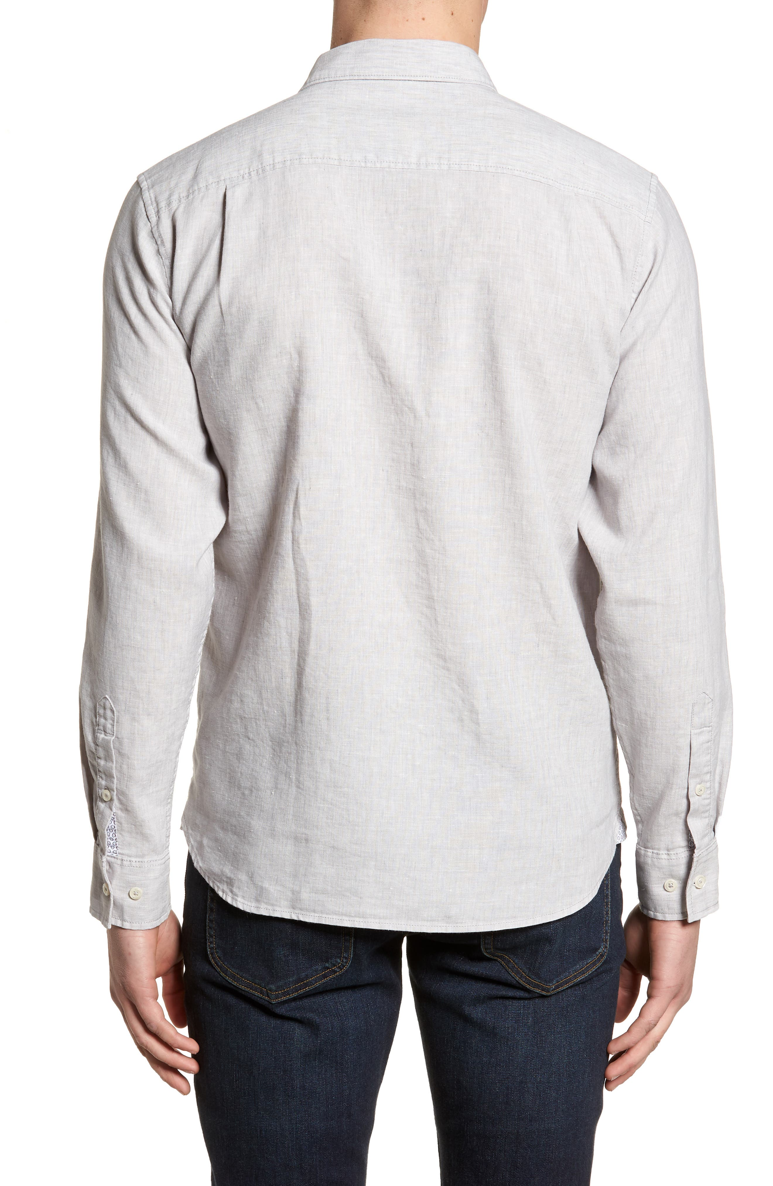 Lanai Tides Linen Blend Sport Shirt,                             Alternate thumbnail 2, color,                             020