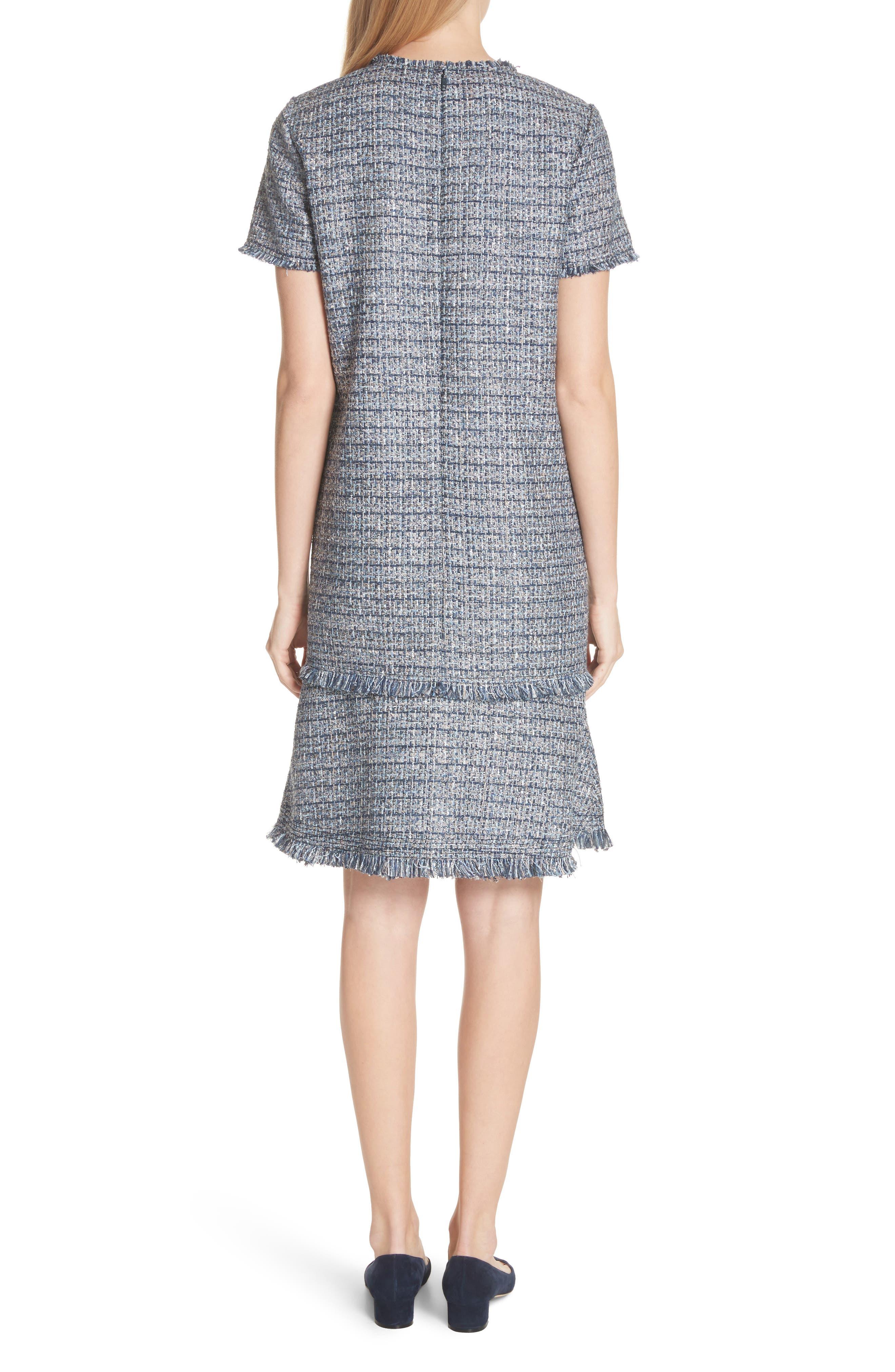 Saria Tweed Drop Waist Dress,                             Alternate thumbnail 2, color,