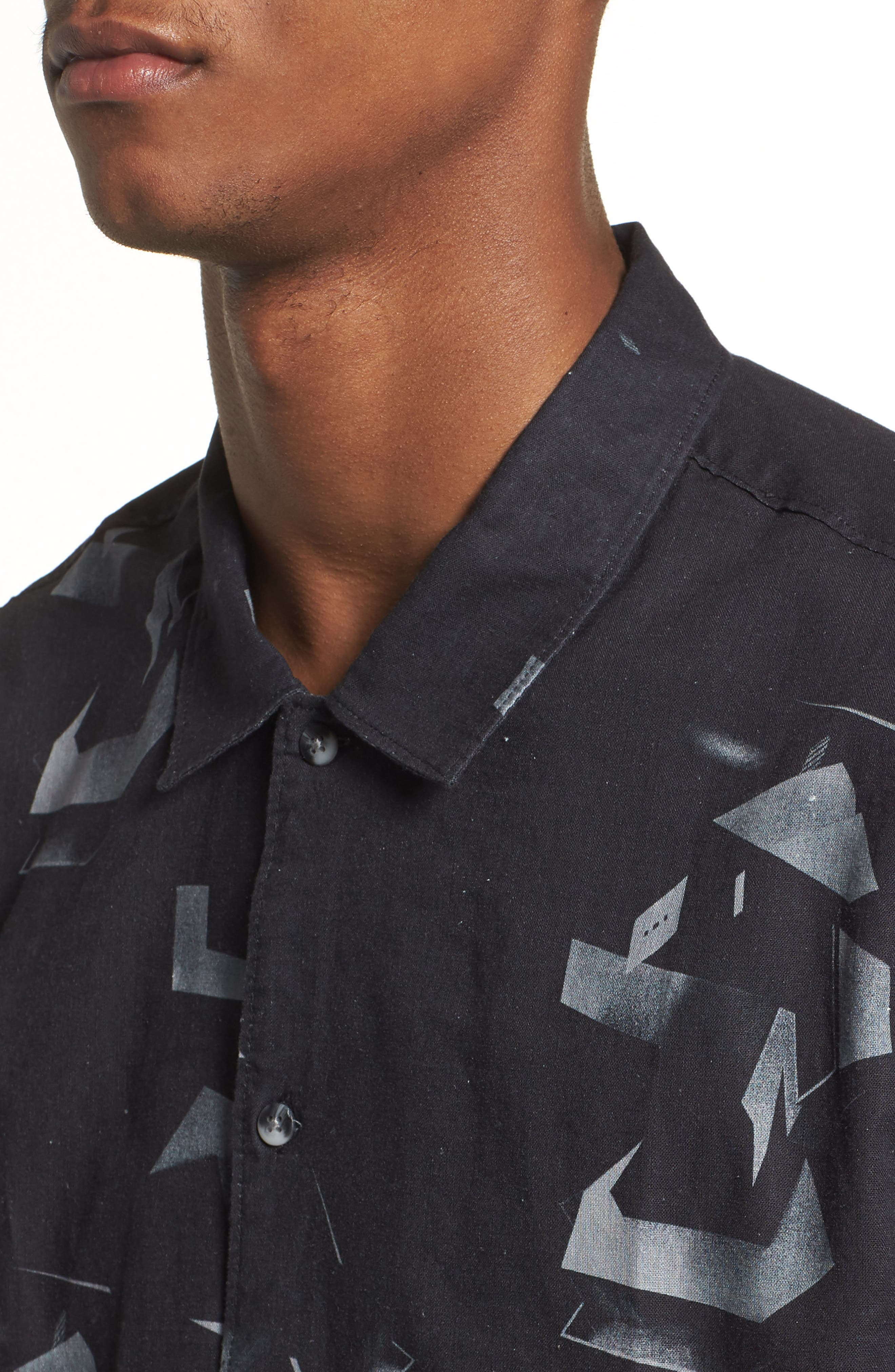 Shoto Short Sleeve Shirt,                             Alternate thumbnail 4, color,                             001
