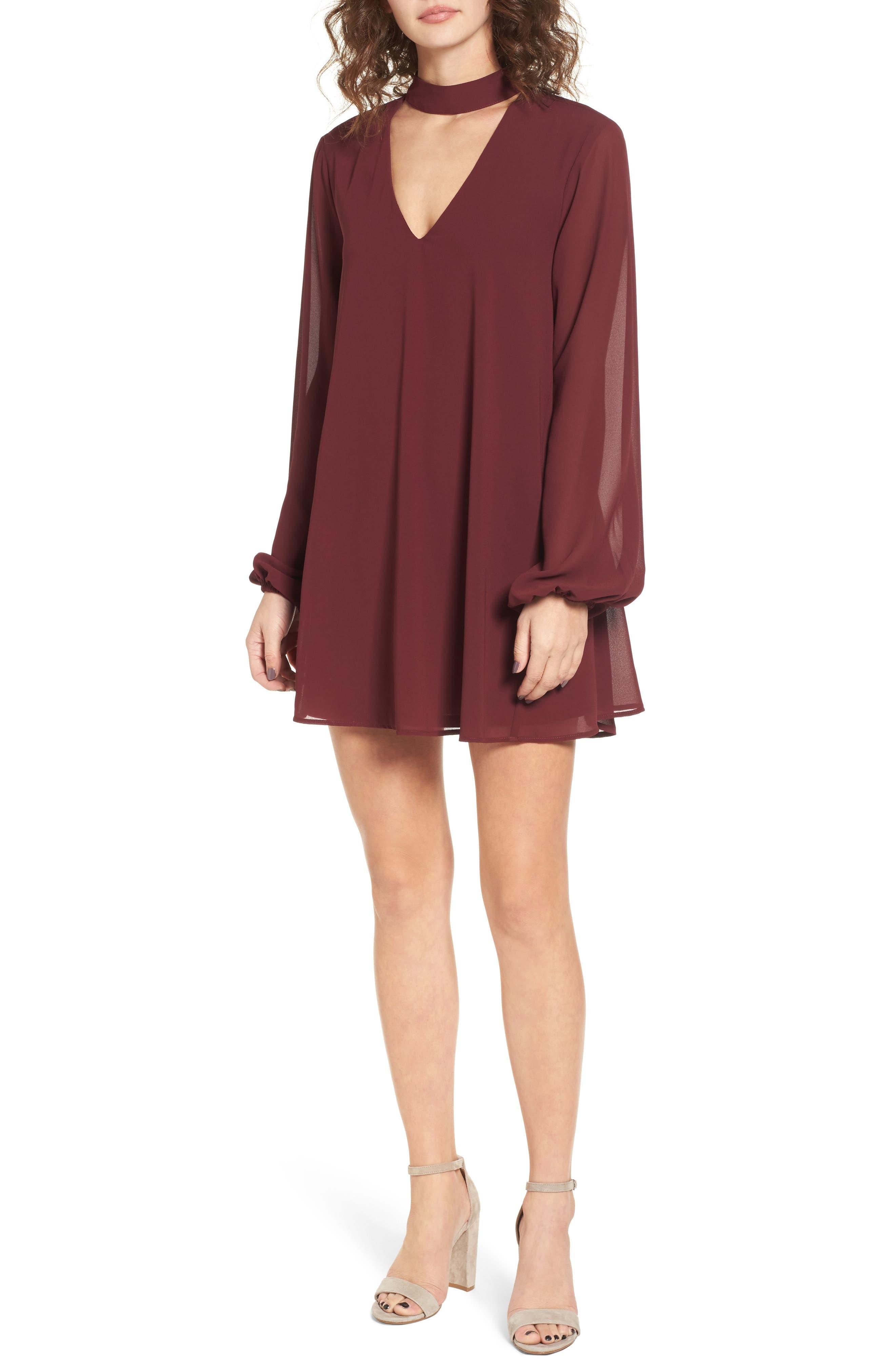 Josephine Choker Dress,                         Main,                         color, 930