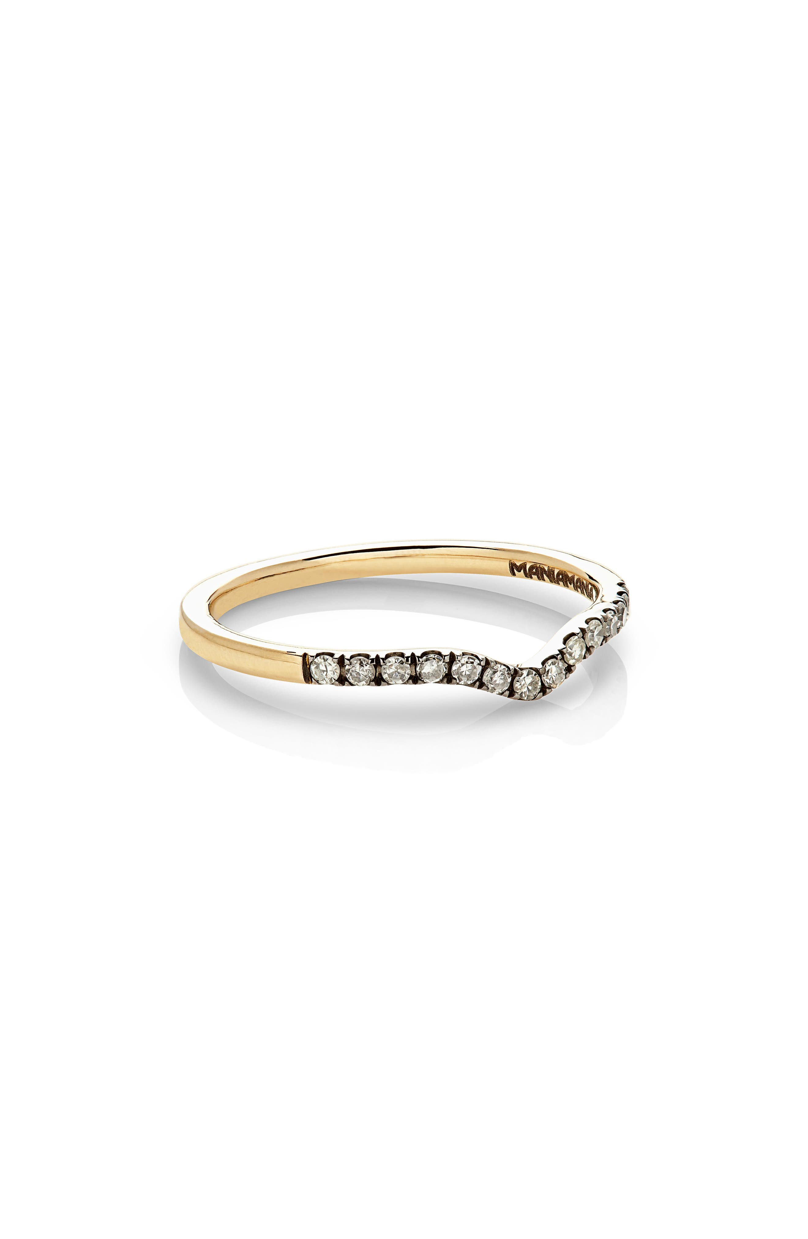 Unity Diamond Band Ring,                             Alternate thumbnail 2, color,                             YELLOW GOLD