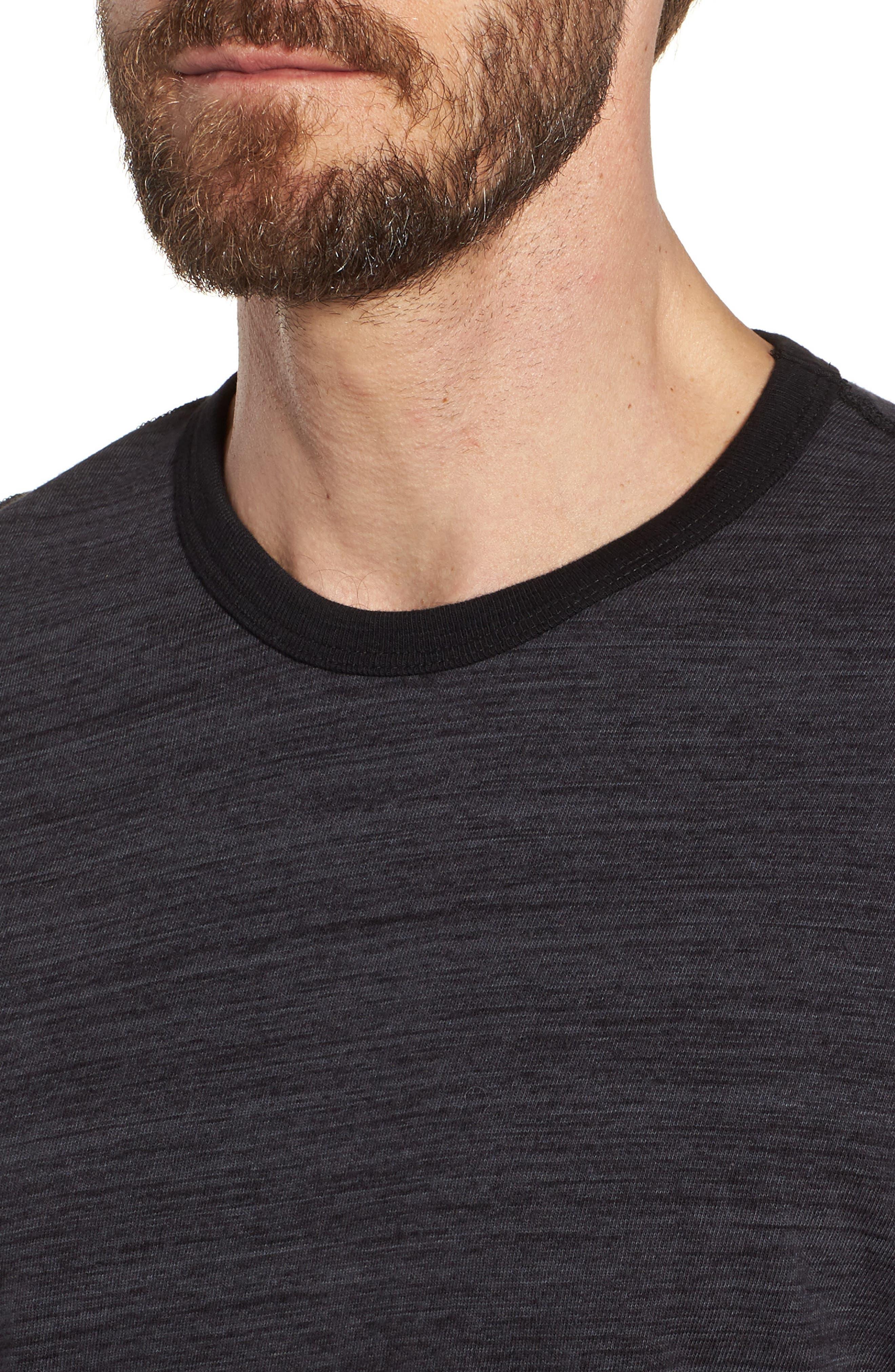Regular Fit Top Dyed Crewneck T-Shirt,                             Alternate thumbnail 4, color,                             002