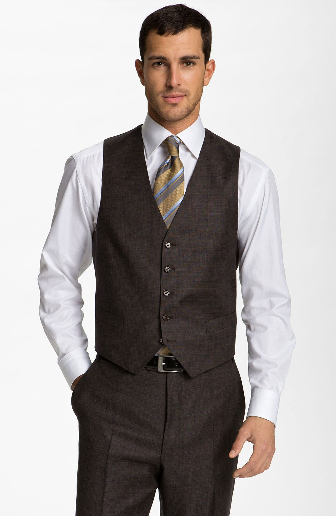 Three Piece Wool Suit,                             Alternate thumbnail 6, color,                             200