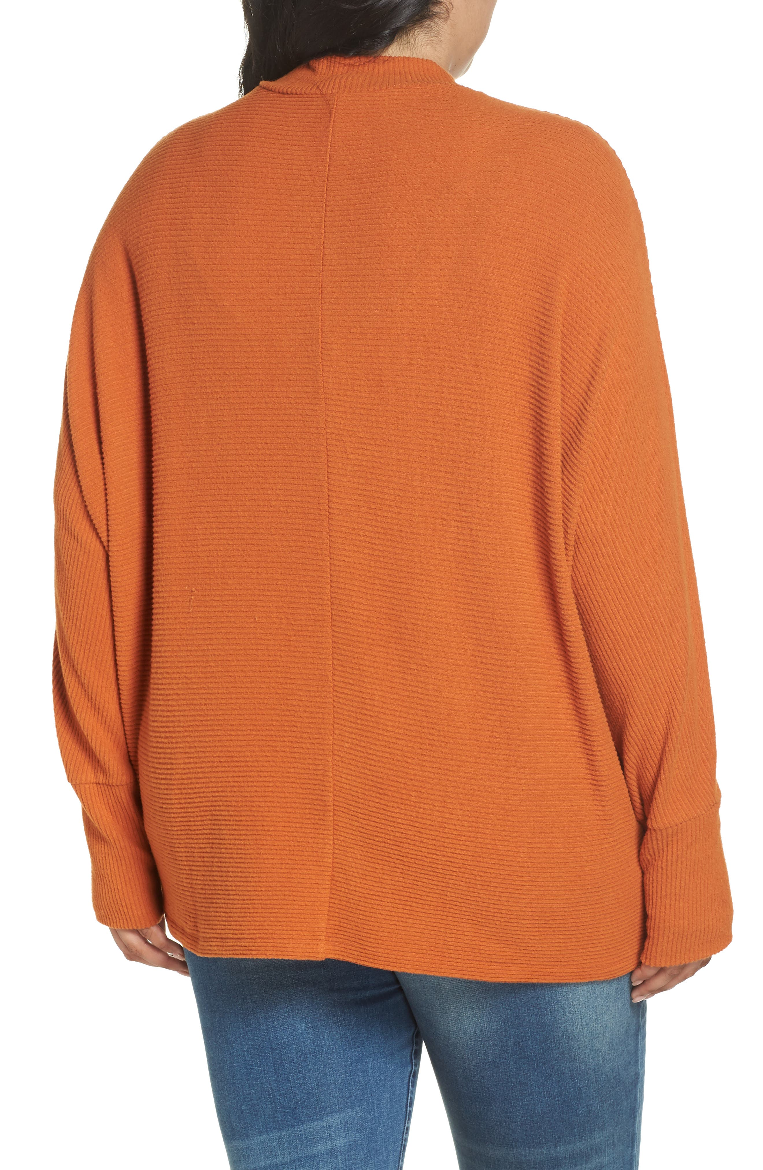 Dolman Sleeve Ribbed Top,                             Alternate thumbnail 8, color,                             RUST CIDER