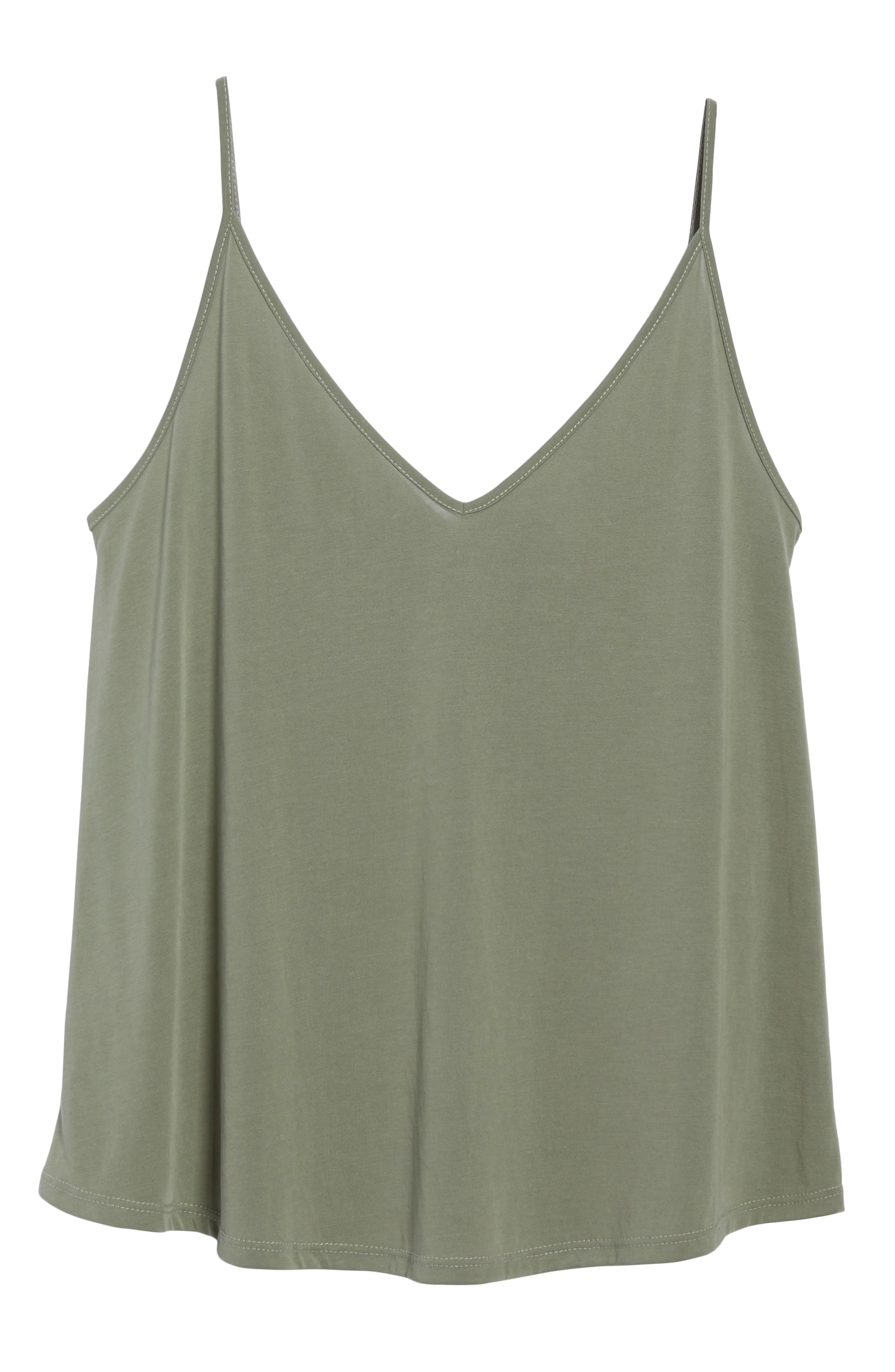 Double V Swing Camisole,                             Alternate thumbnail 7, color,                             OLIVE BURNT