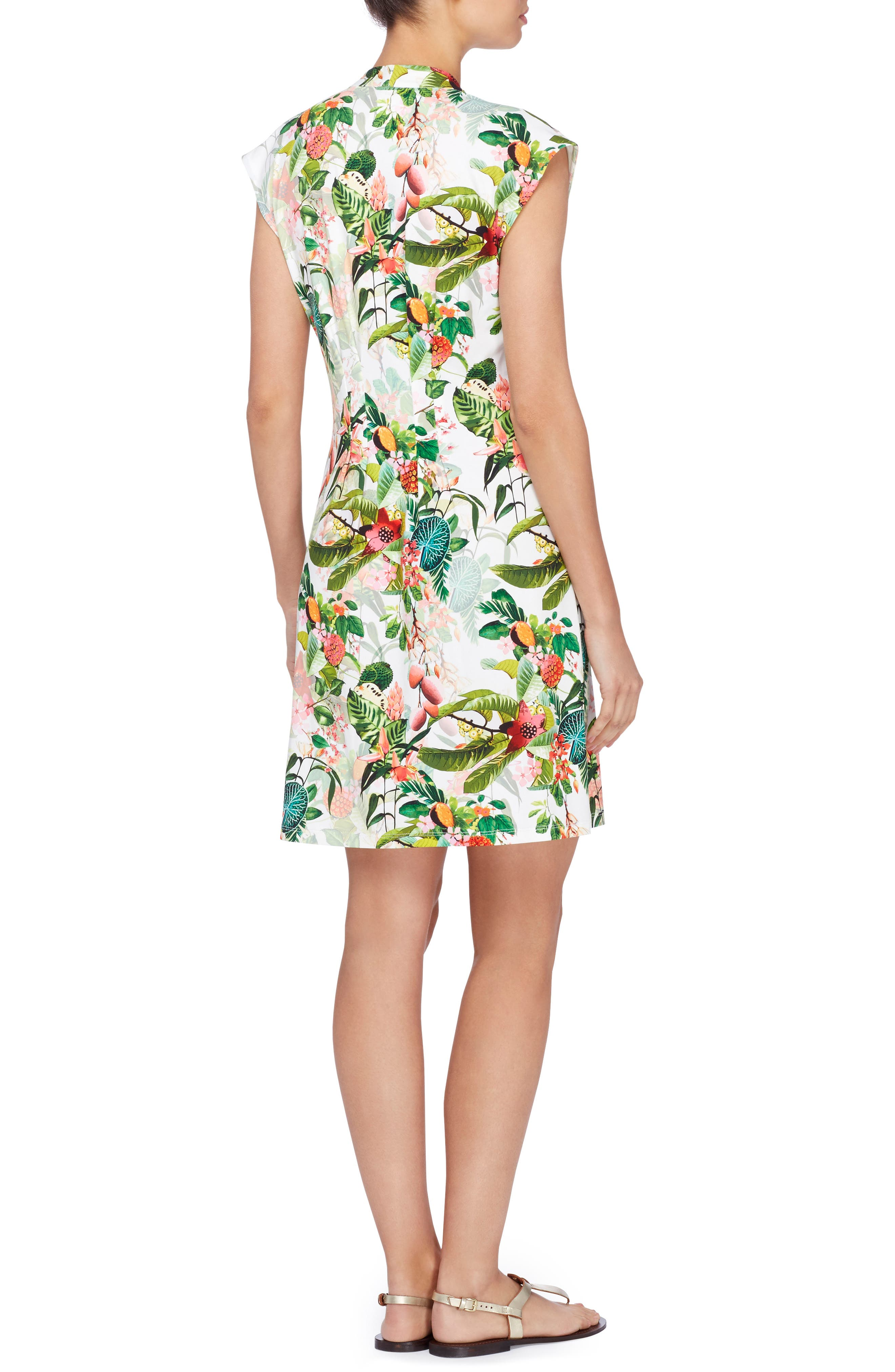 Print Jersey Dress,                             Alternate thumbnail 2, color,                             300