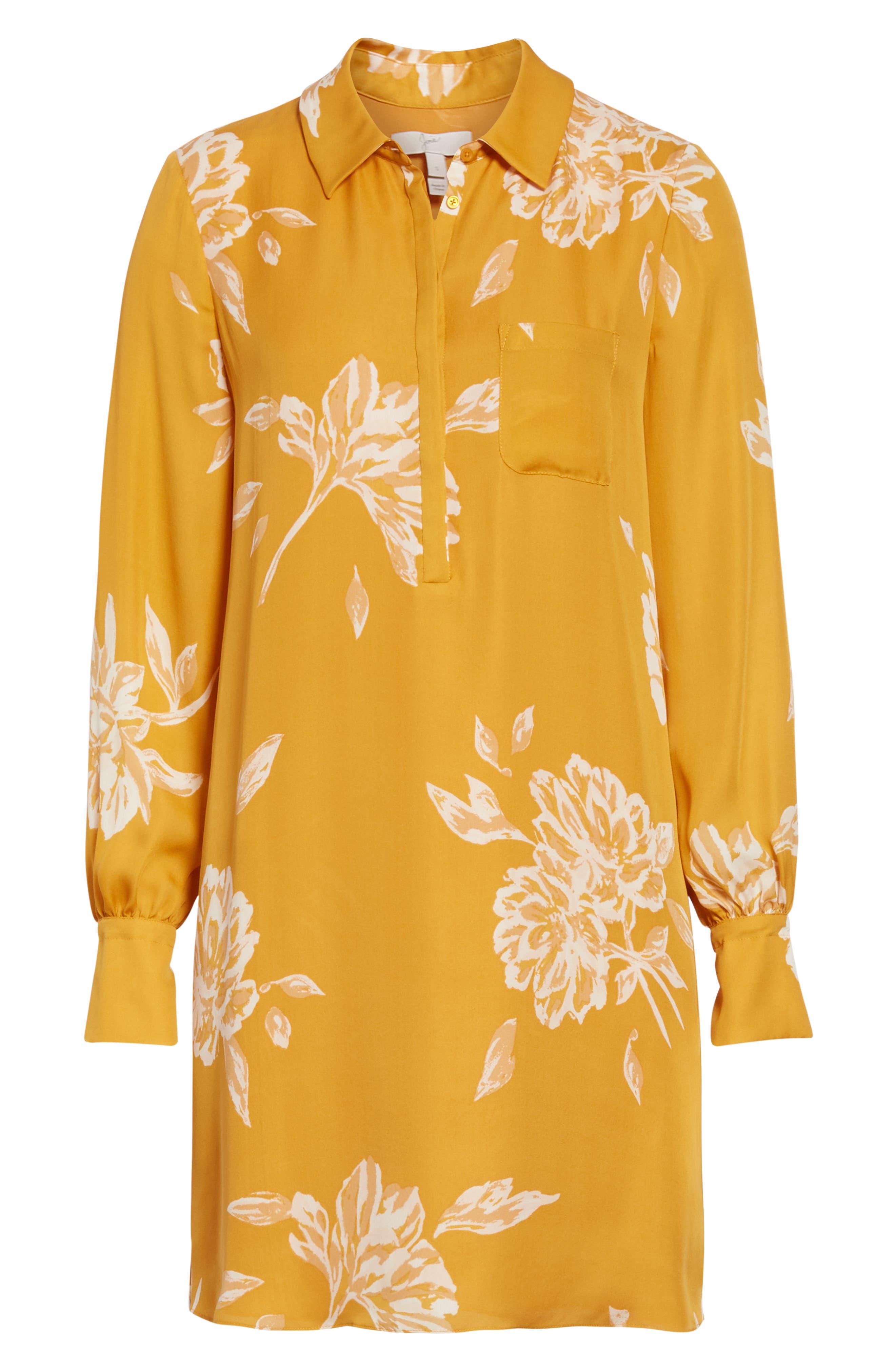 Amaranda Silk Shirtdress,                             Alternate thumbnail 7, color,                             DUSTY GOLD