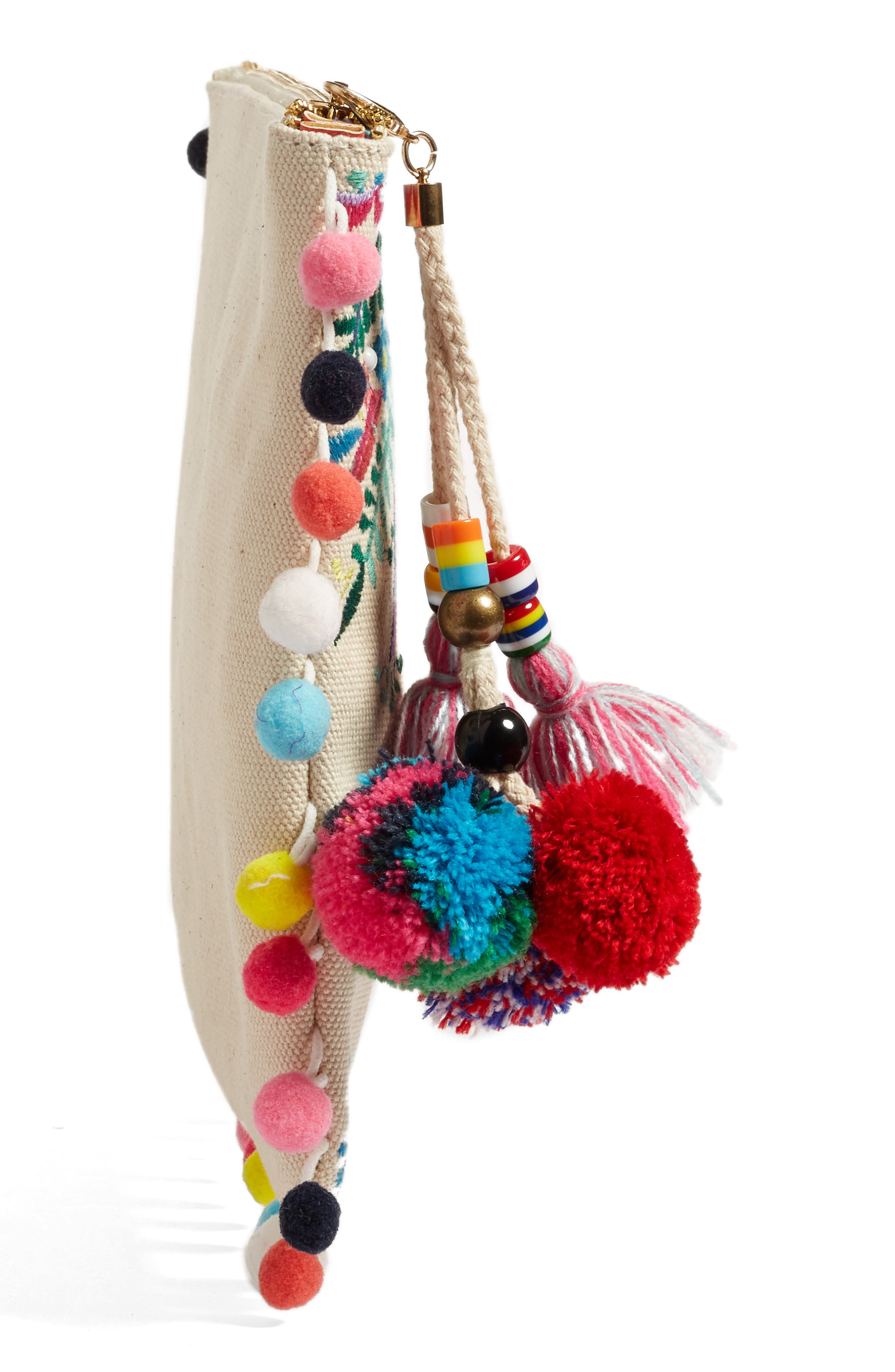 Embroidered Clutch,                             Alternate thumbnail 4, color,                             250