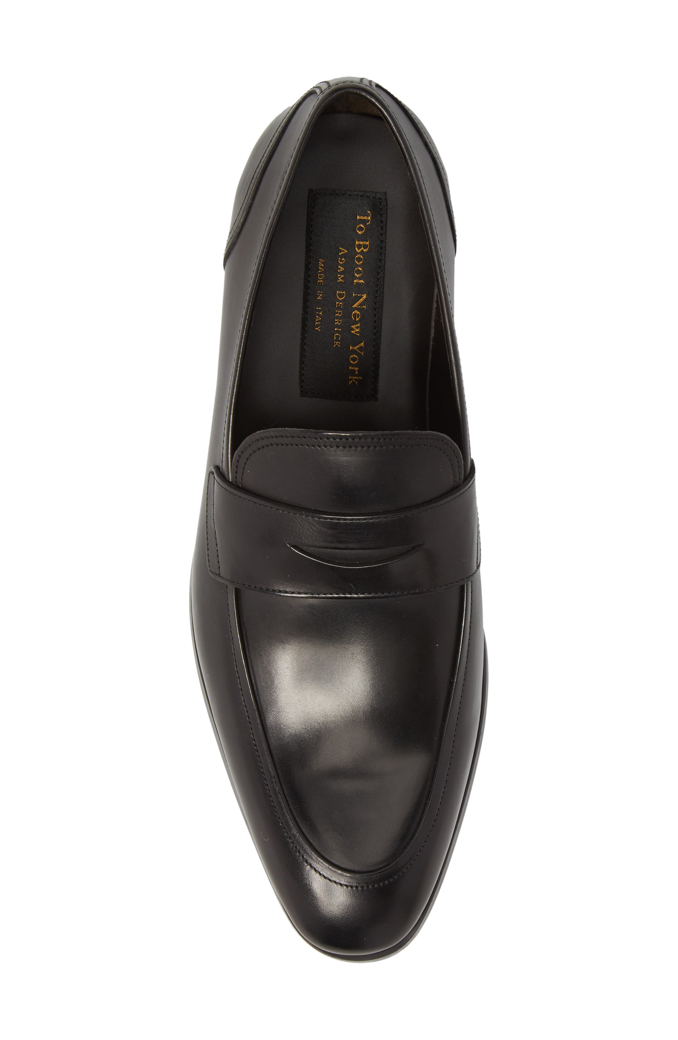 Deane Penny Loafer,                             Alternate thumbnail 5, color,                             BLACK LEATHER