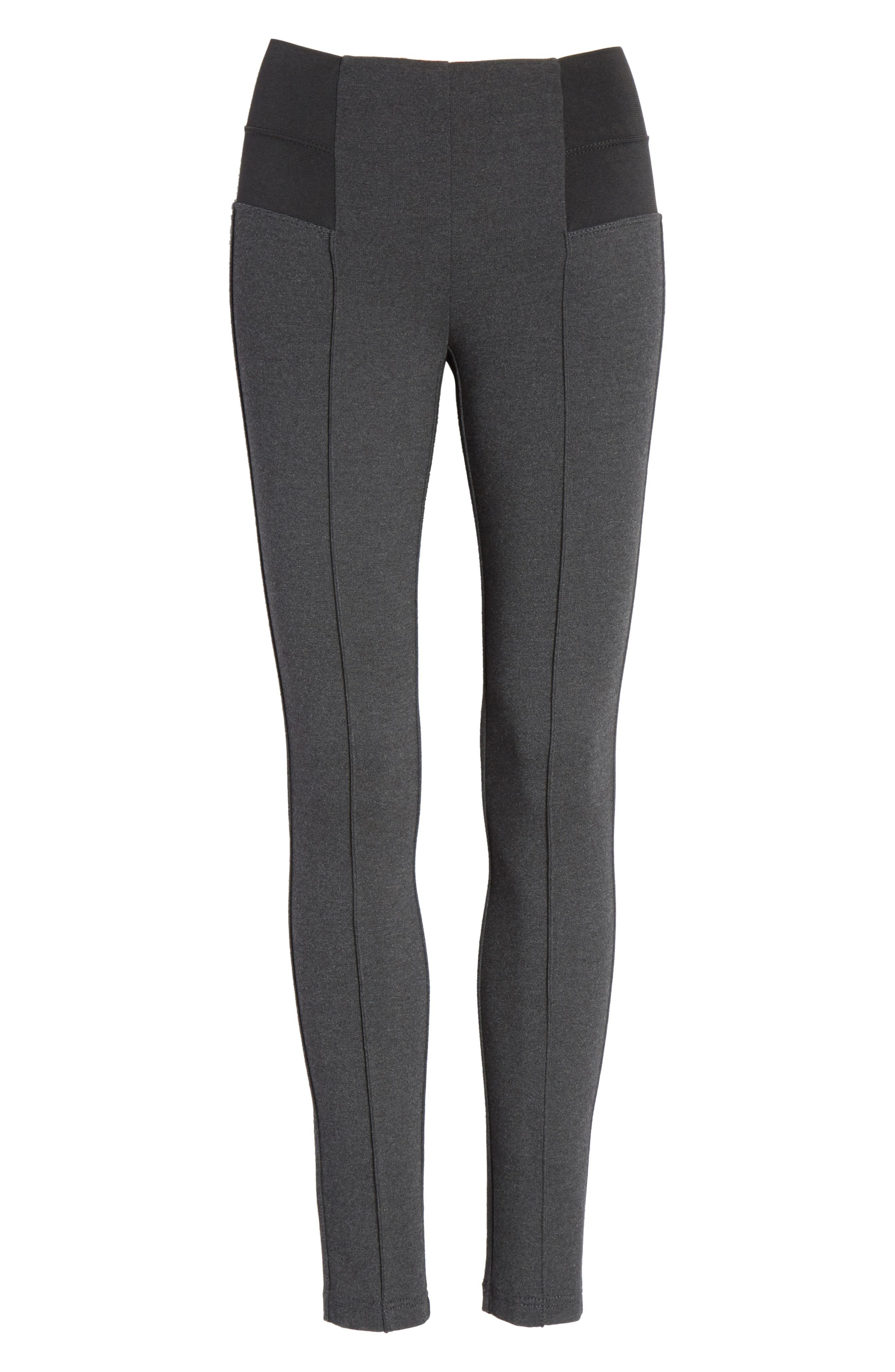 Pintuck Seam Punto Milano Skinny Pants,                             Alternate thumbnail 6, color,                             034
