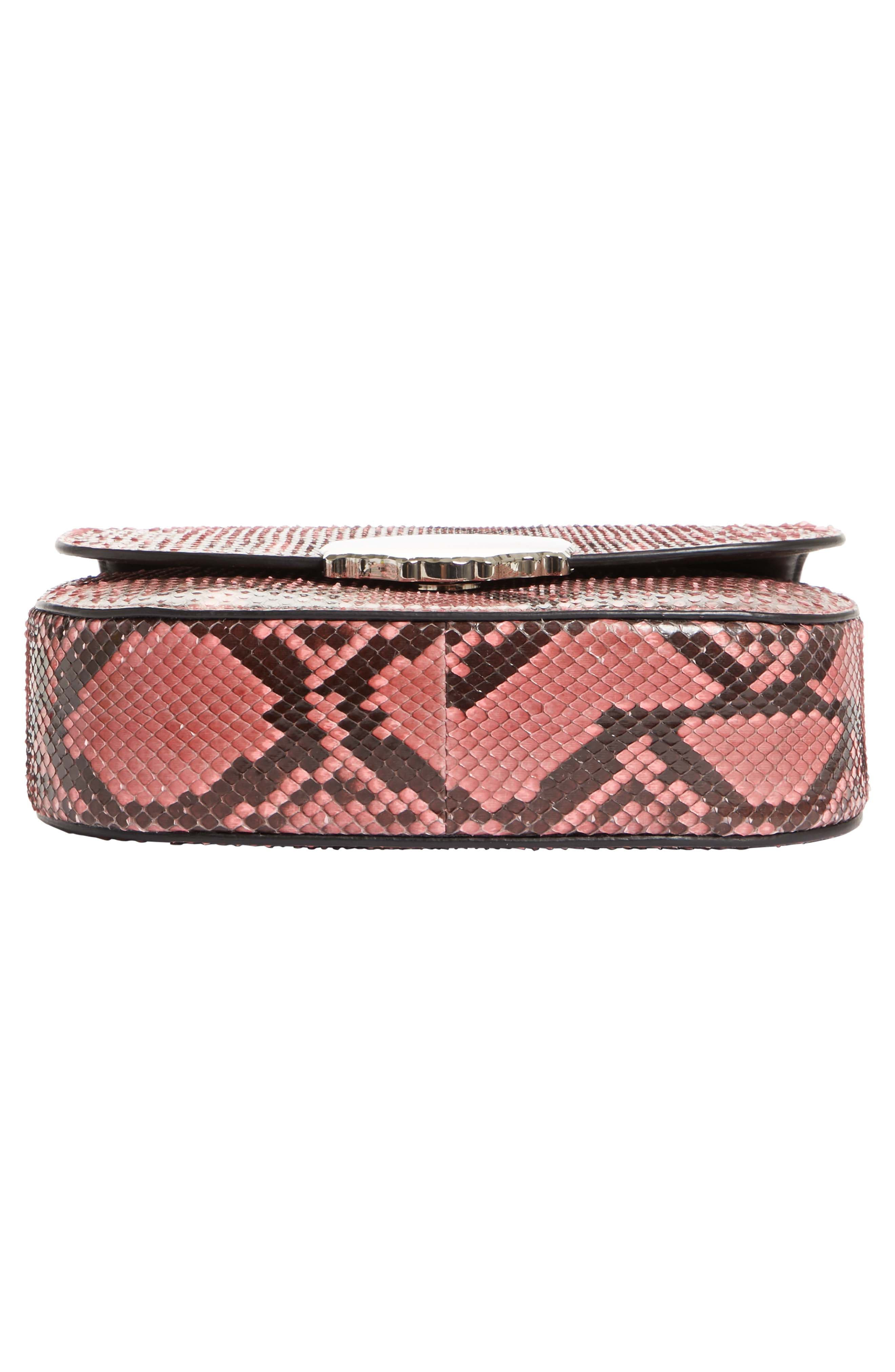Calvin Klein 205W395NYC Genuine Python Shoulder Bag,                             Alternate thumbnail 6, color,