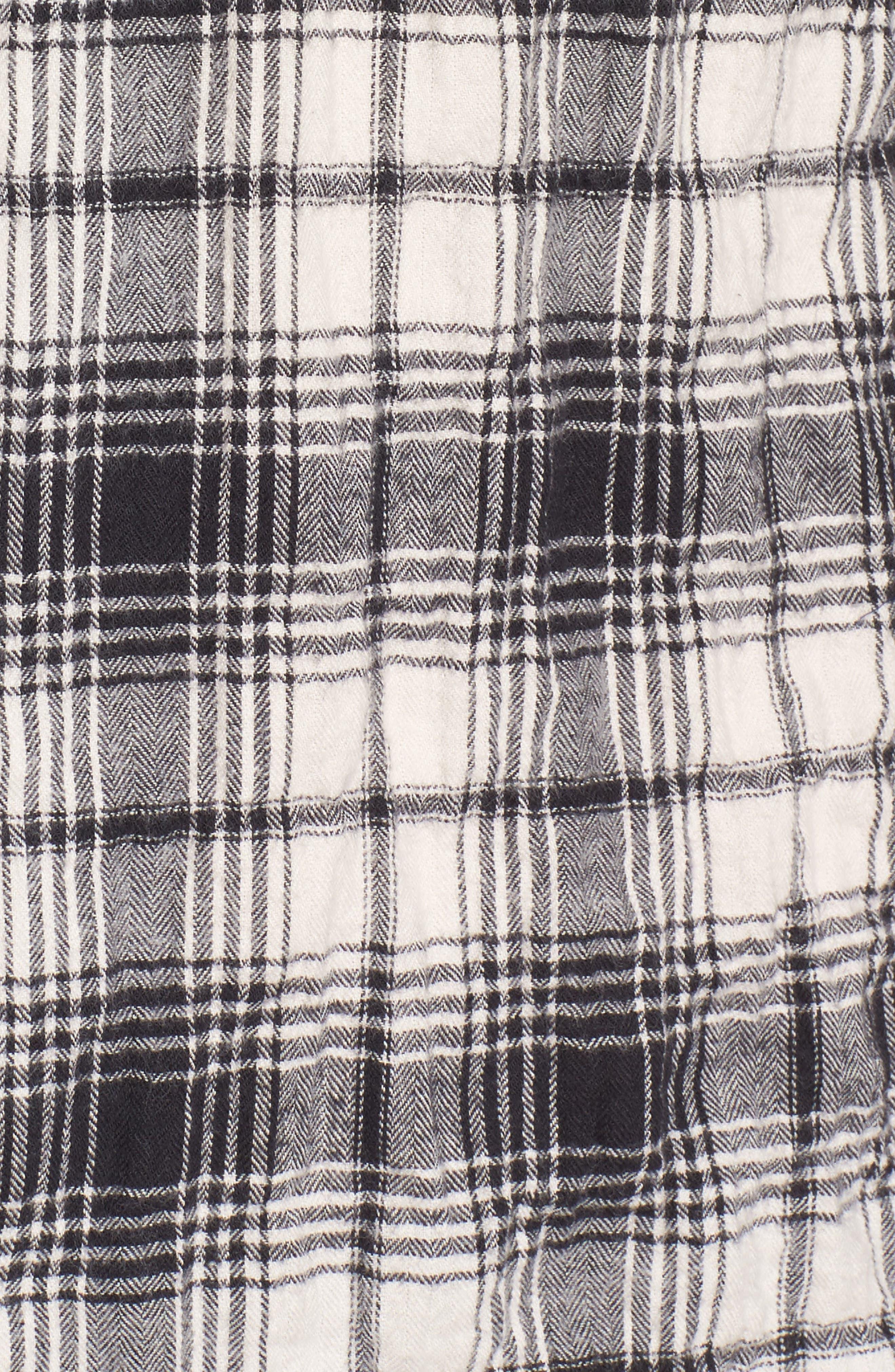 Regular Fit Plaid Flannel Sport Shirt,                             Alternate thumbnail 5, color,                             100
