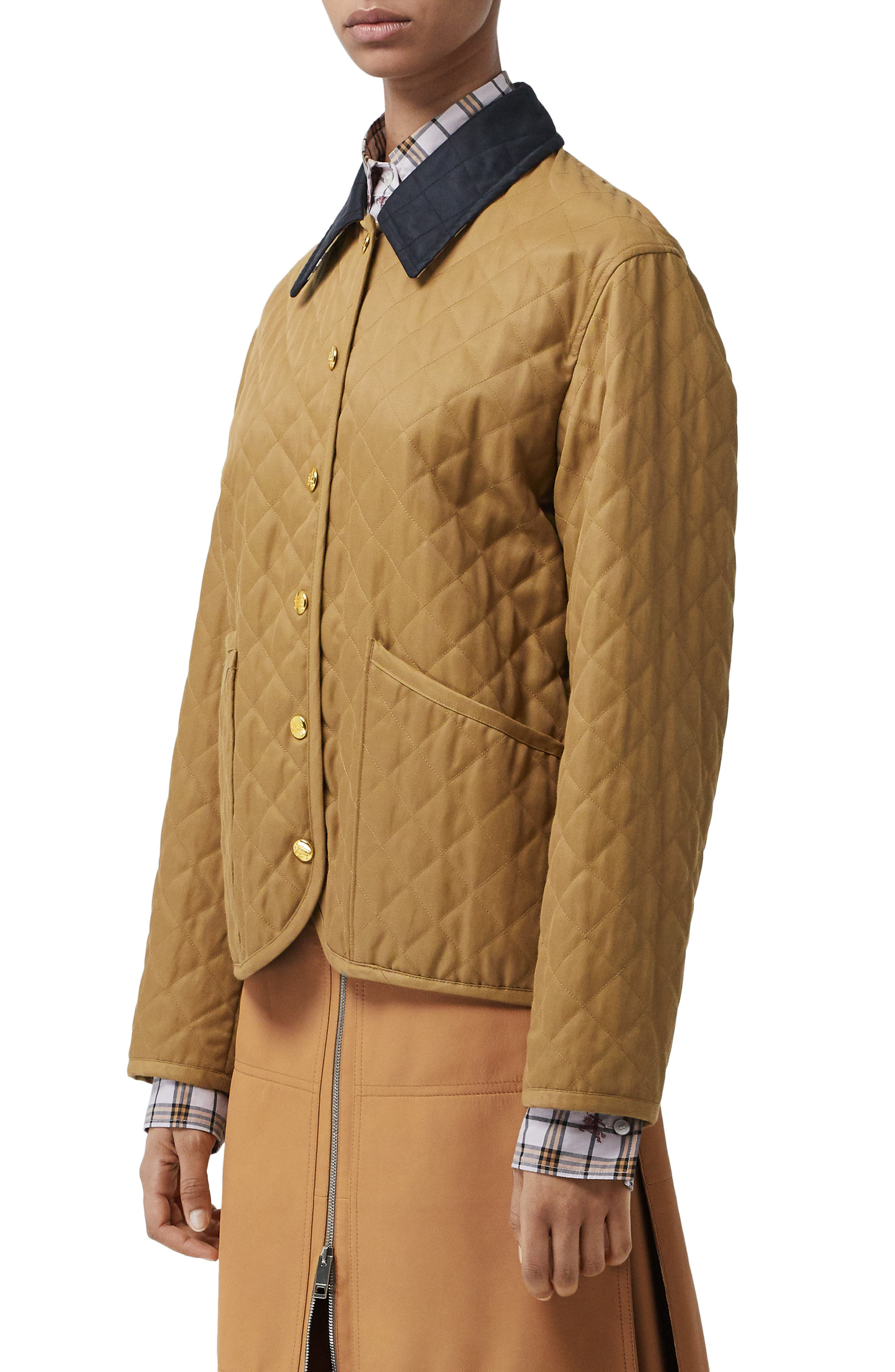 Dranefeld Quilted Jacket,                             Alternate thumbnail 3, color,                             CAMEL