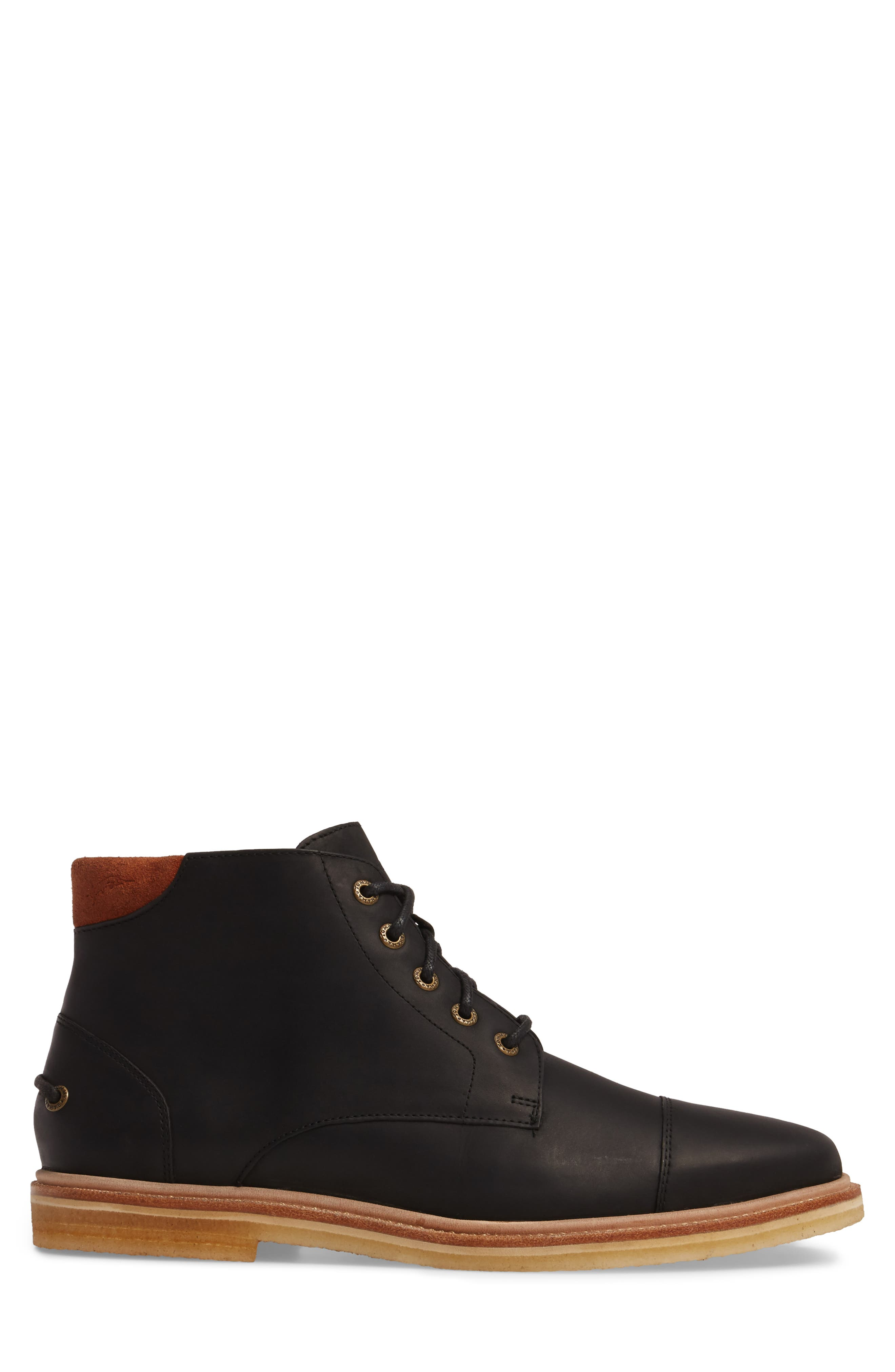 Argon Blooms Cap Toe Boot,                             Alternate thumbnail 3, color,                             001