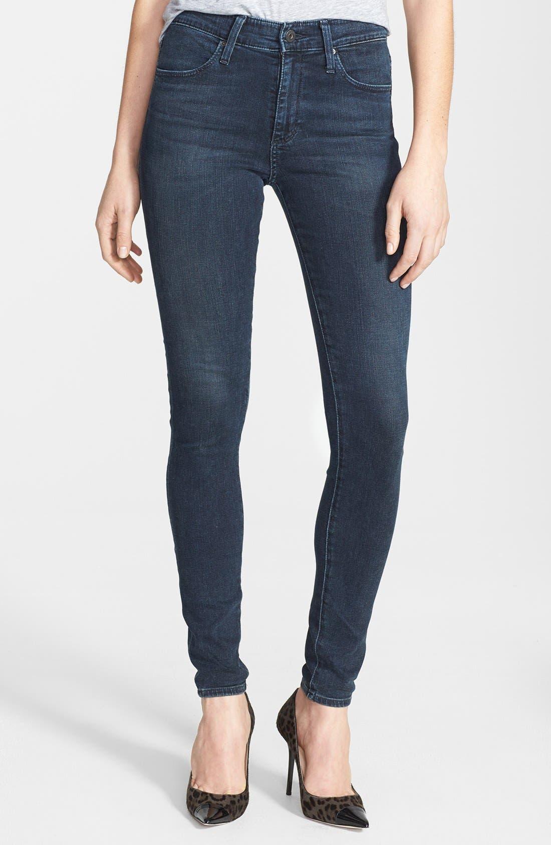 'The Farrah' High Rise Skinny Jeans,                             Main thumbnail 11, color,