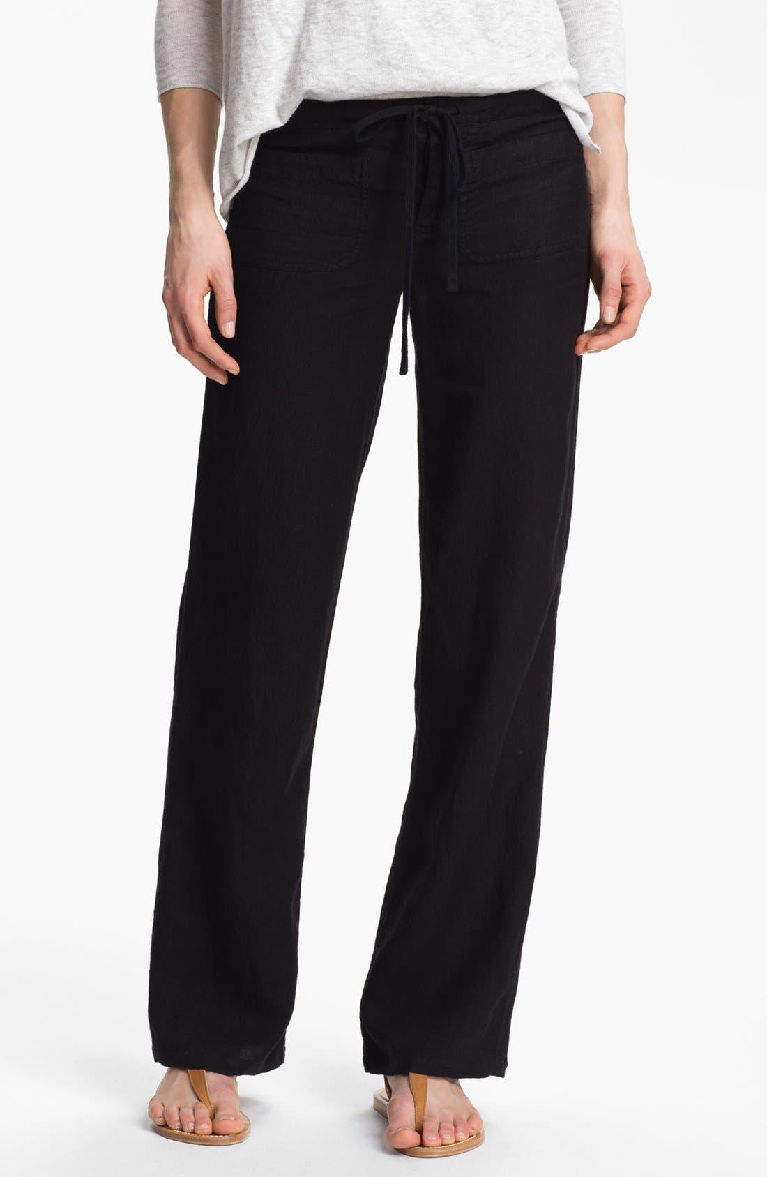 Linen Pants,                             Main thumbnail 1, color,                             001