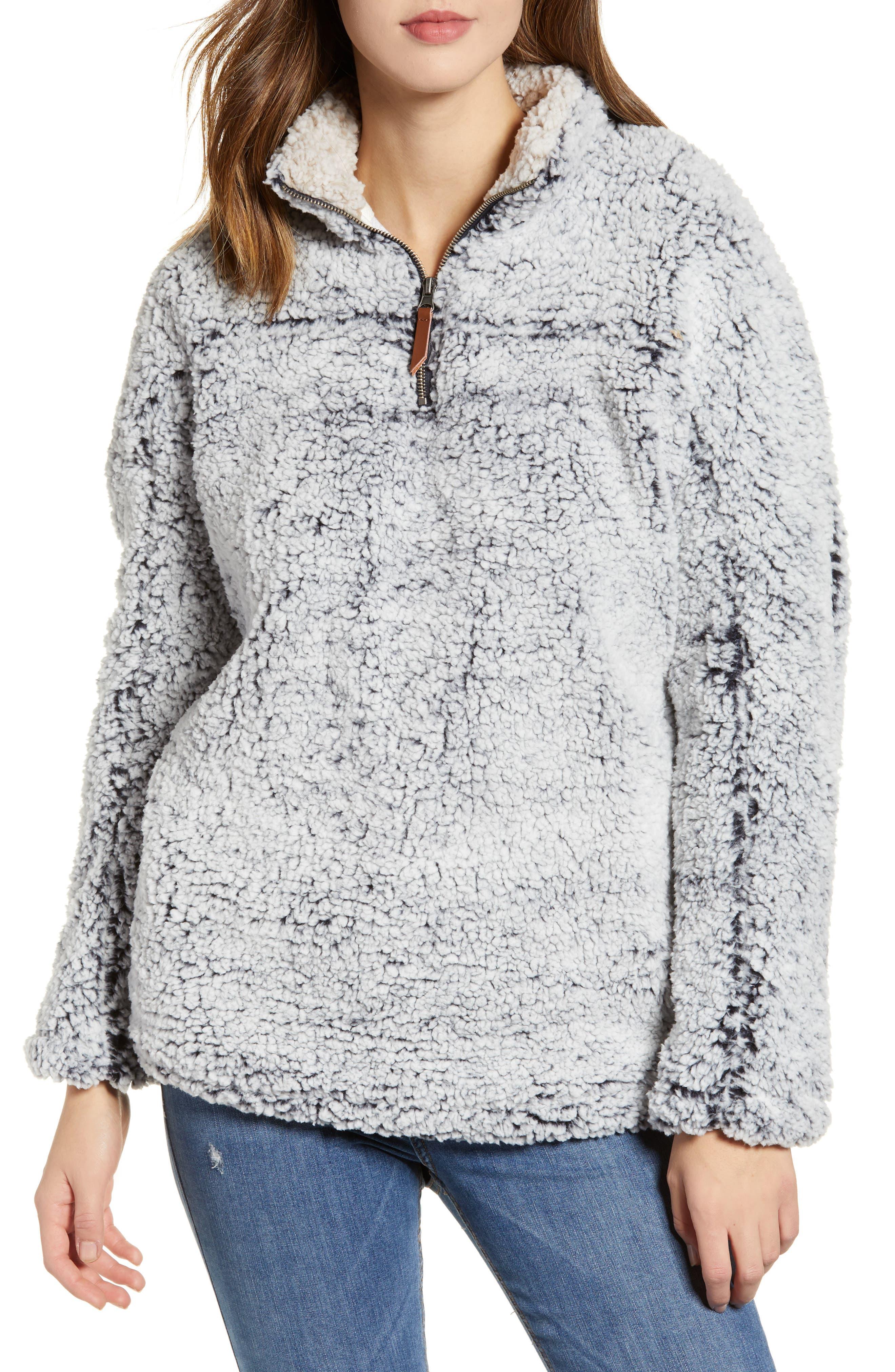 Wubby Fleece Pullover,                         Main,                         color, INDIGO