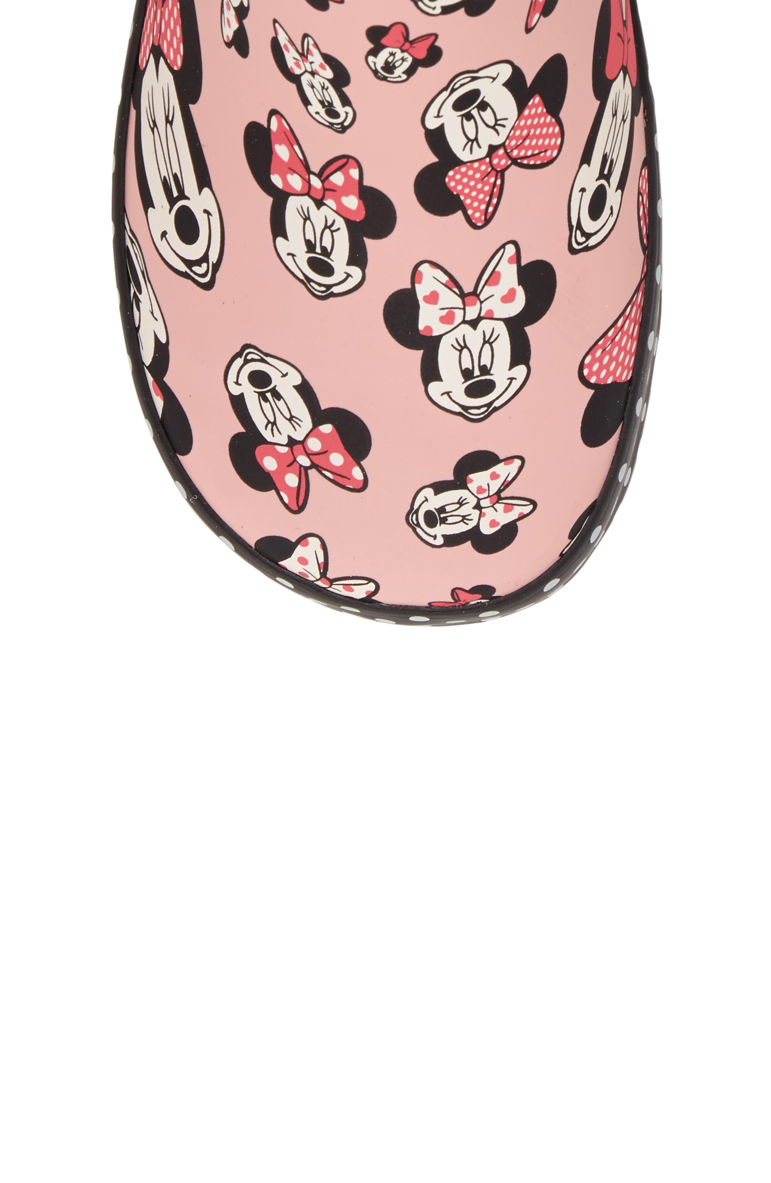 Disney<sup>®</sup> Minnie Mouse Waterproof Rain Boot,                             Alternate thumbnail 5, color,                             680