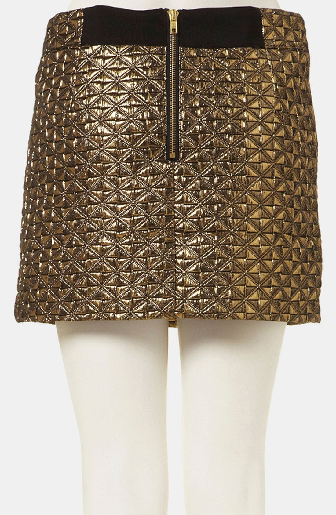 Metallic Jacquard Miniskirt,                             Alternate thumbnail 2, color,                             710