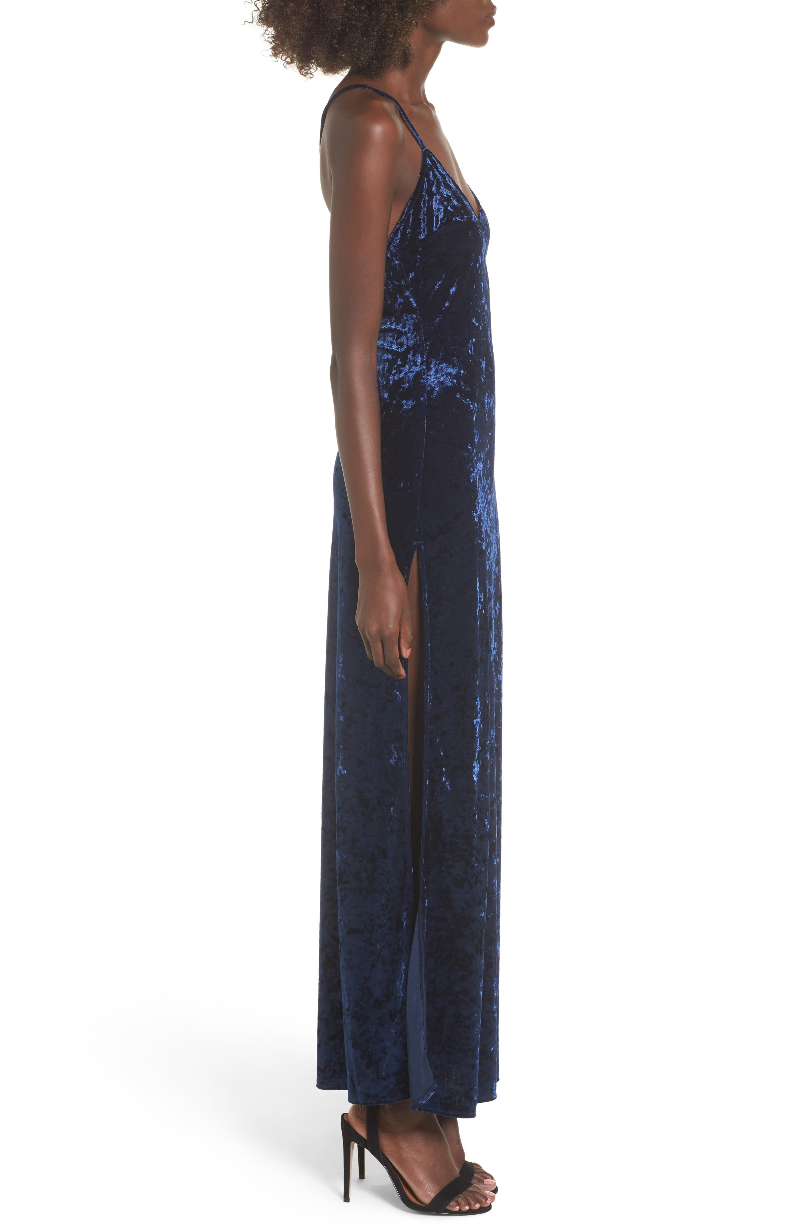 In the Deep Velvet Maxi Dress,                             Alternate thumbnail 6, color,