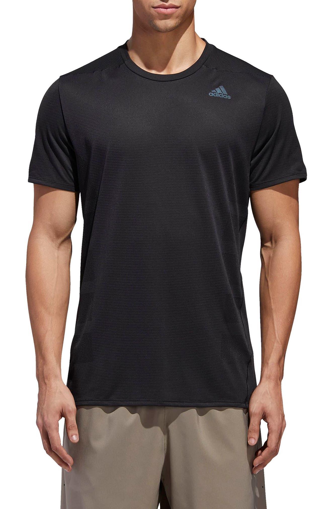 Supernova Regular Fit Short Sleeve Reflective Running T-Shirt,                         Main,                         color, BLACK
