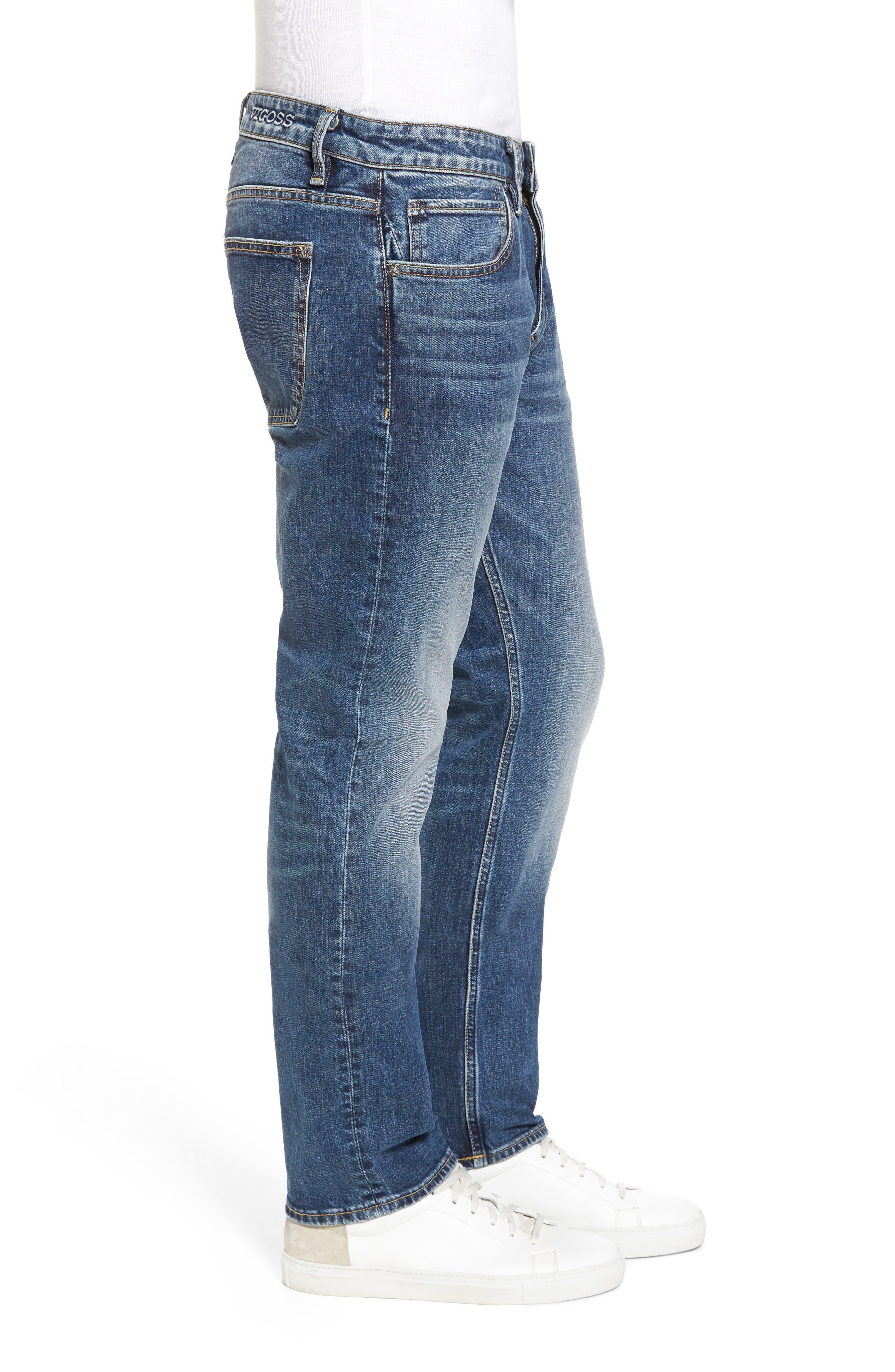 Slim Straight Leg Jeans,                             Alternate thumbnail 3, color,                             400