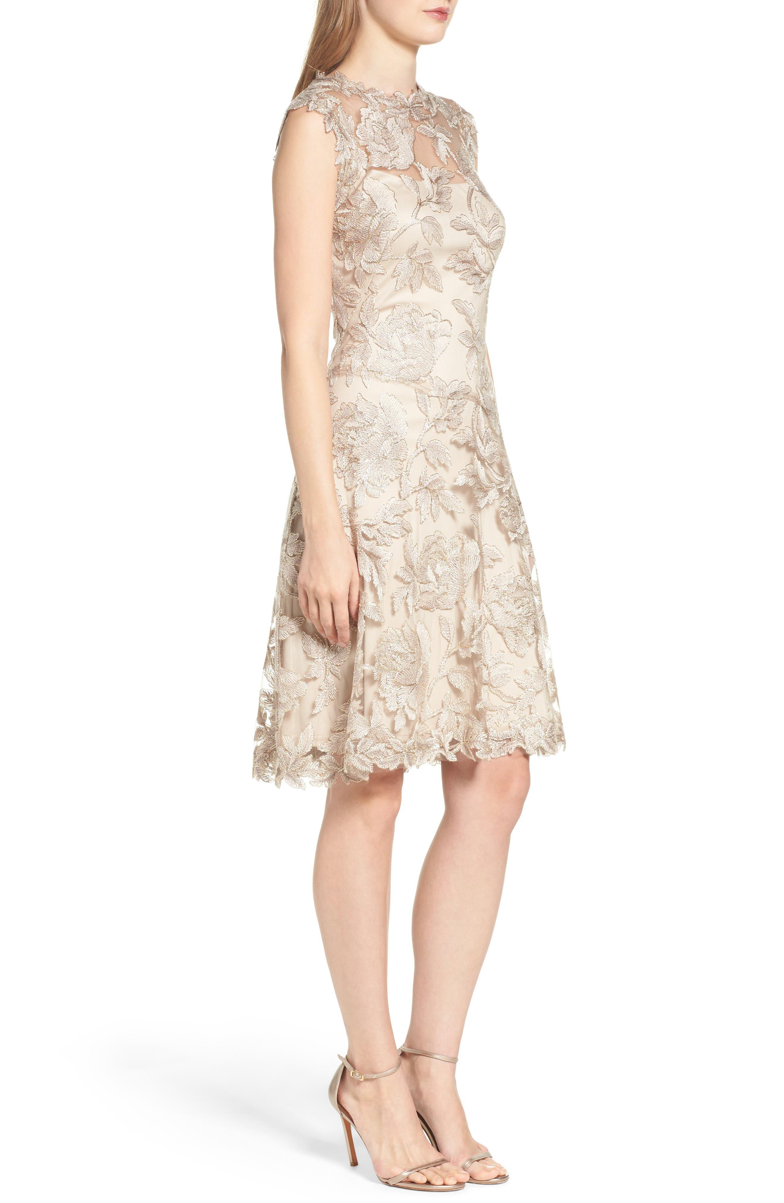 Noelle Floral Fit & Flare Dress,                             Alternate thumbnail 12, color,