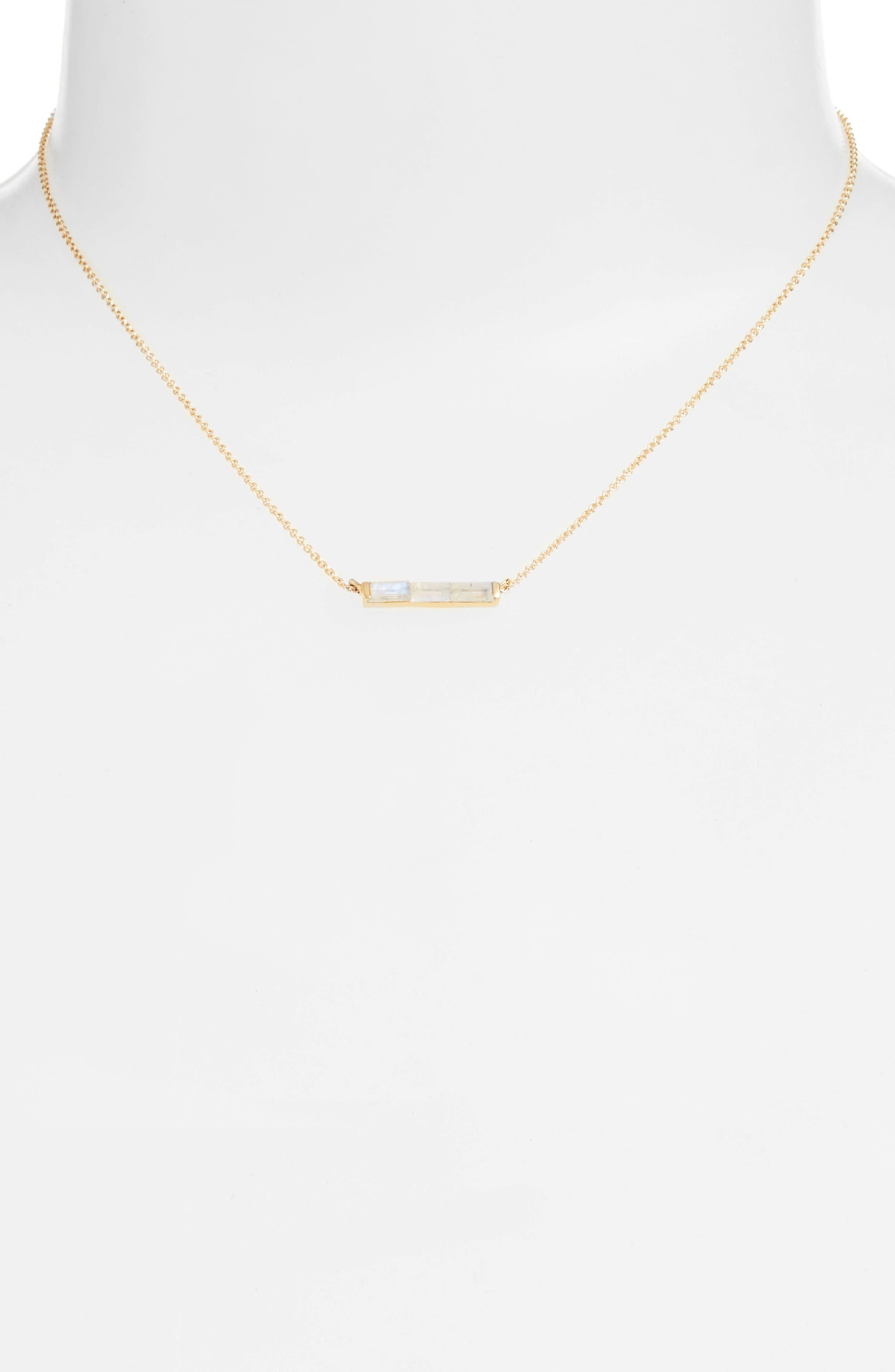 Channel Set Semiprecious Stone Necklace,                             Alternate thumbnail 6, color,